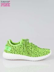 Zielone buty sportowe z uchwytem z tyłu