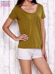Zielony gładki t-shirt basic