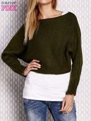 Zielony krótki sweter