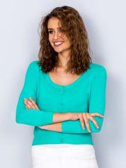 Zielony sweter damski z guzikami