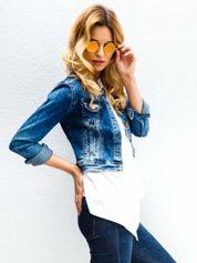 Złote okulary przeciwsłoneczne LENONKI lustrzanka