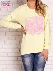 Żółta bluza z kolorowym nadrukiem