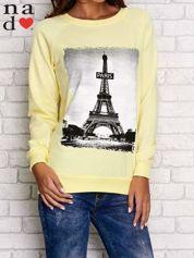 Żółta bluza z motywem Wieży Eiffla