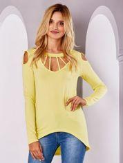 Żółta bluzka z wycięciami
