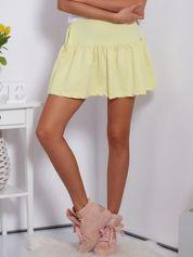 Żółta spódnica z falbaną