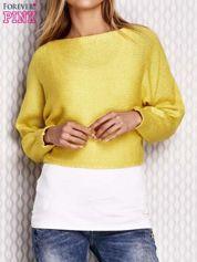 Żółty krótki sweter