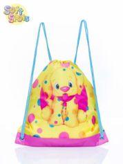 Żółty plecak worek DISNEY Soft Spots