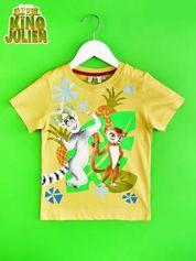 Żółty t-shirt chłopięcy KRÓL JULIAN