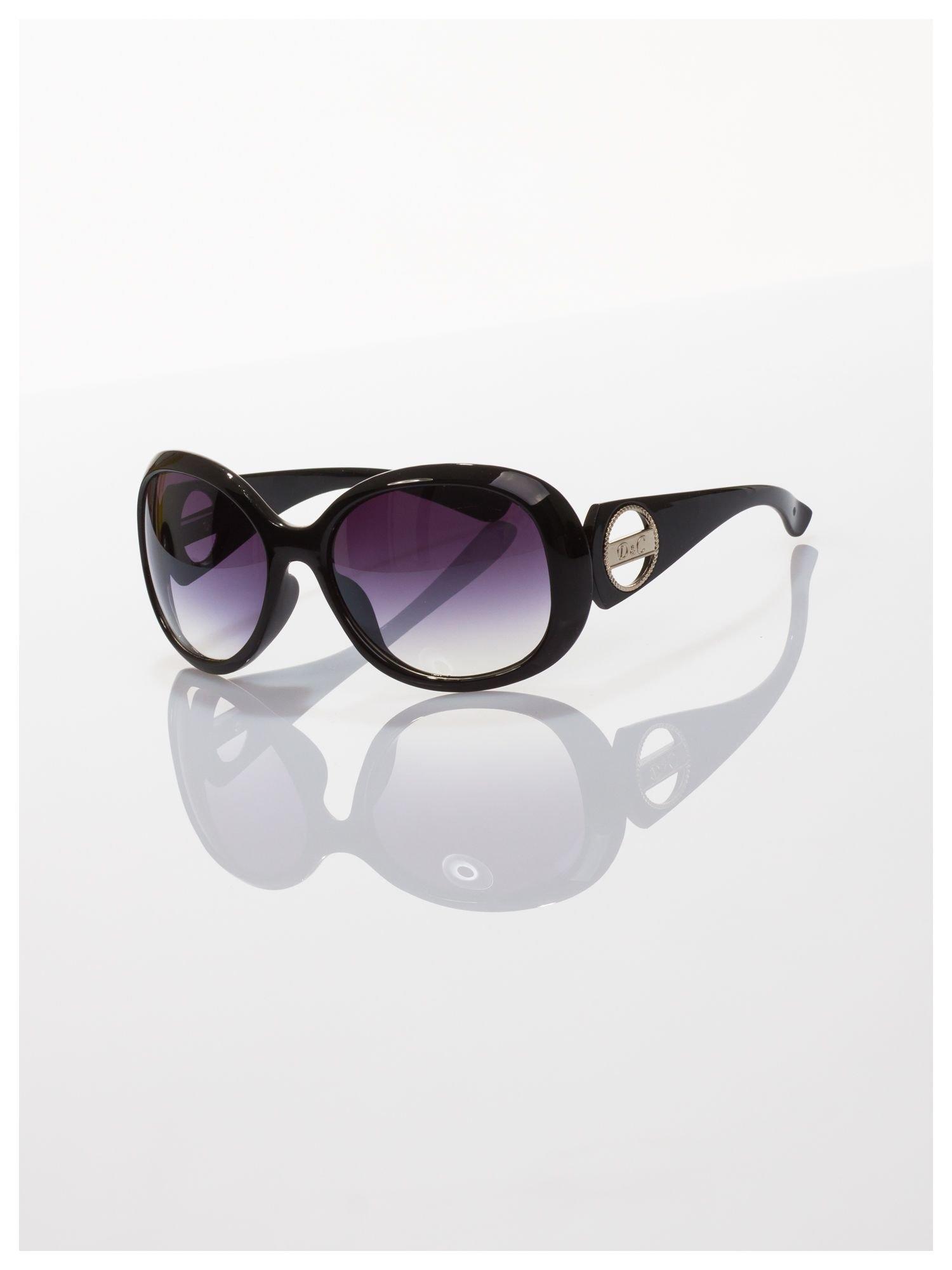 Czarne klasyczne duże okulary blogerek MUCHY                                  zdj.                                  2