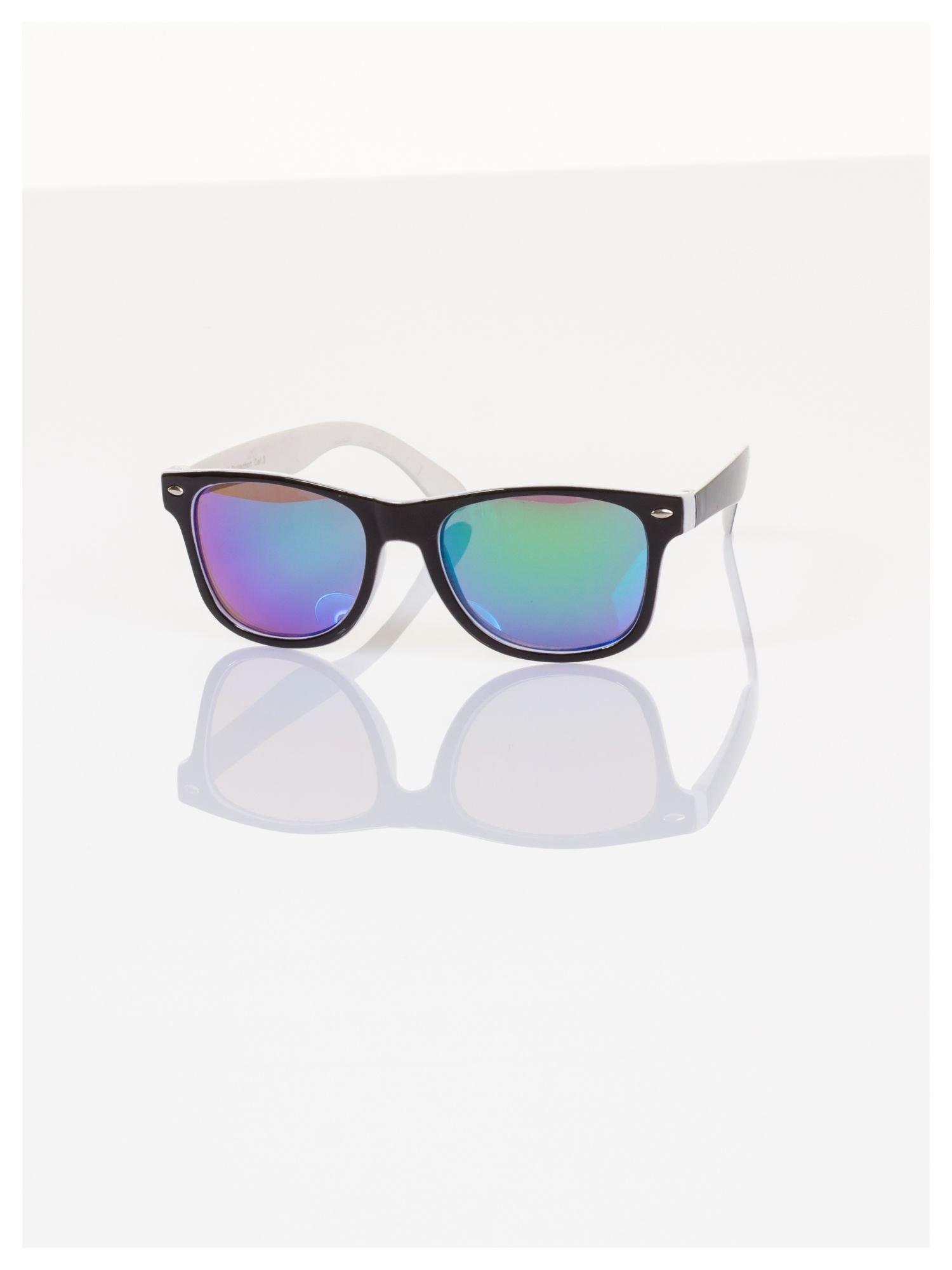 Dziecięce lustrzanki okulary z klasyczną oprawką WEYFARER NERD odporne na wyginania                                  zdj.                                  2