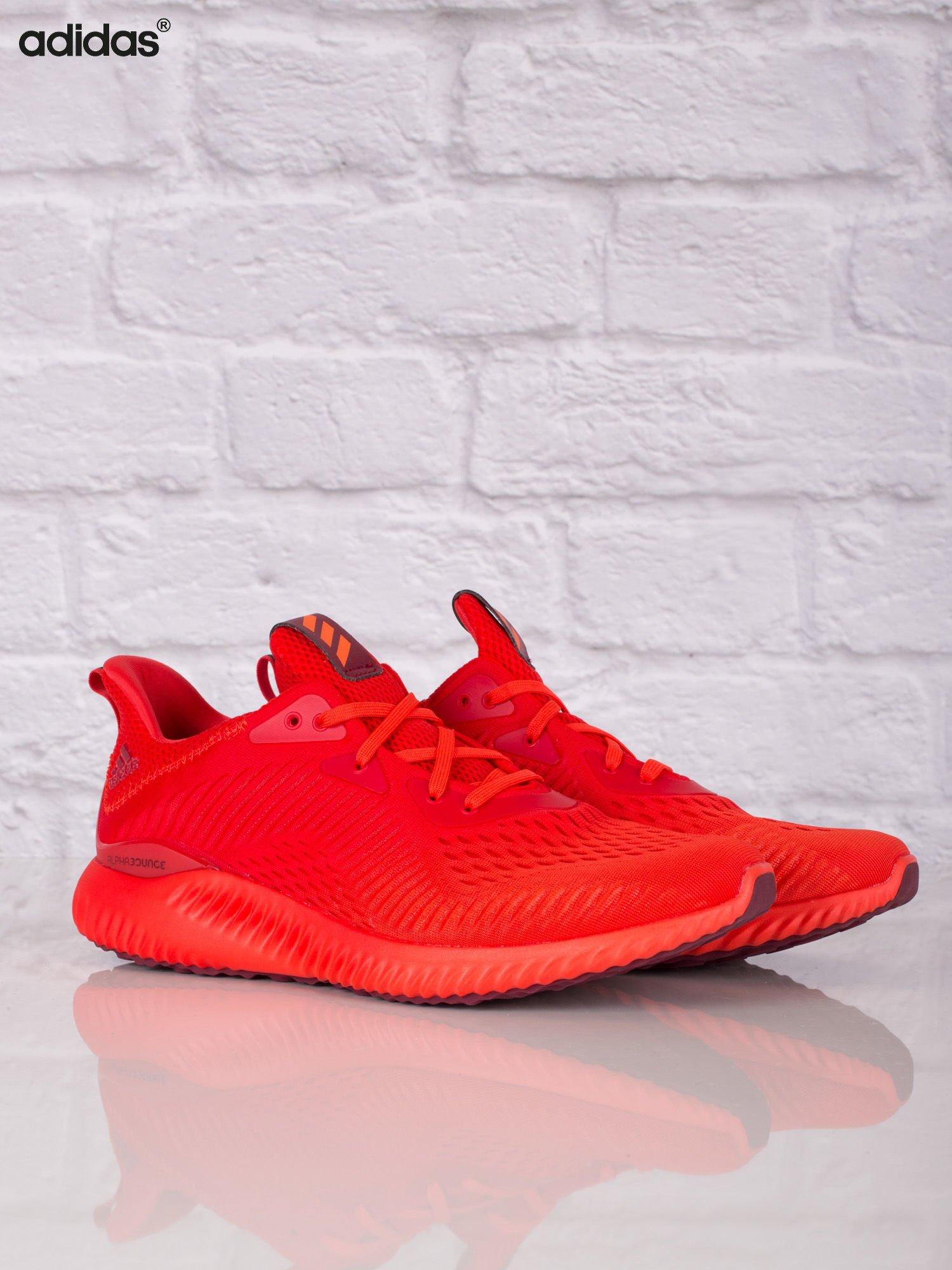 ADIDAS Czerwone buty sportowe męskie alphabounce EM