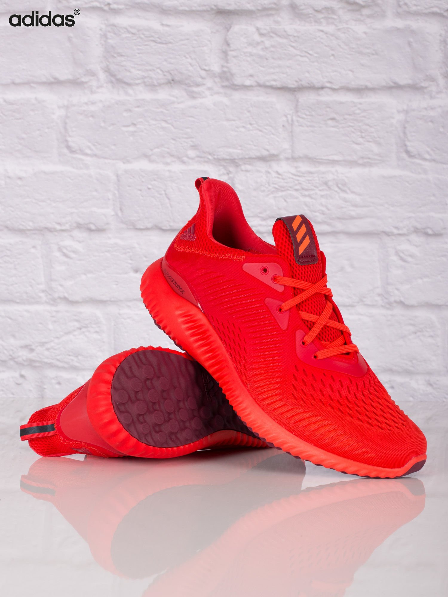 de7b4f371476a ADIDAS Czerwone buty sportowe męskie alphabounce EM - Mężczyźni Buty ...
