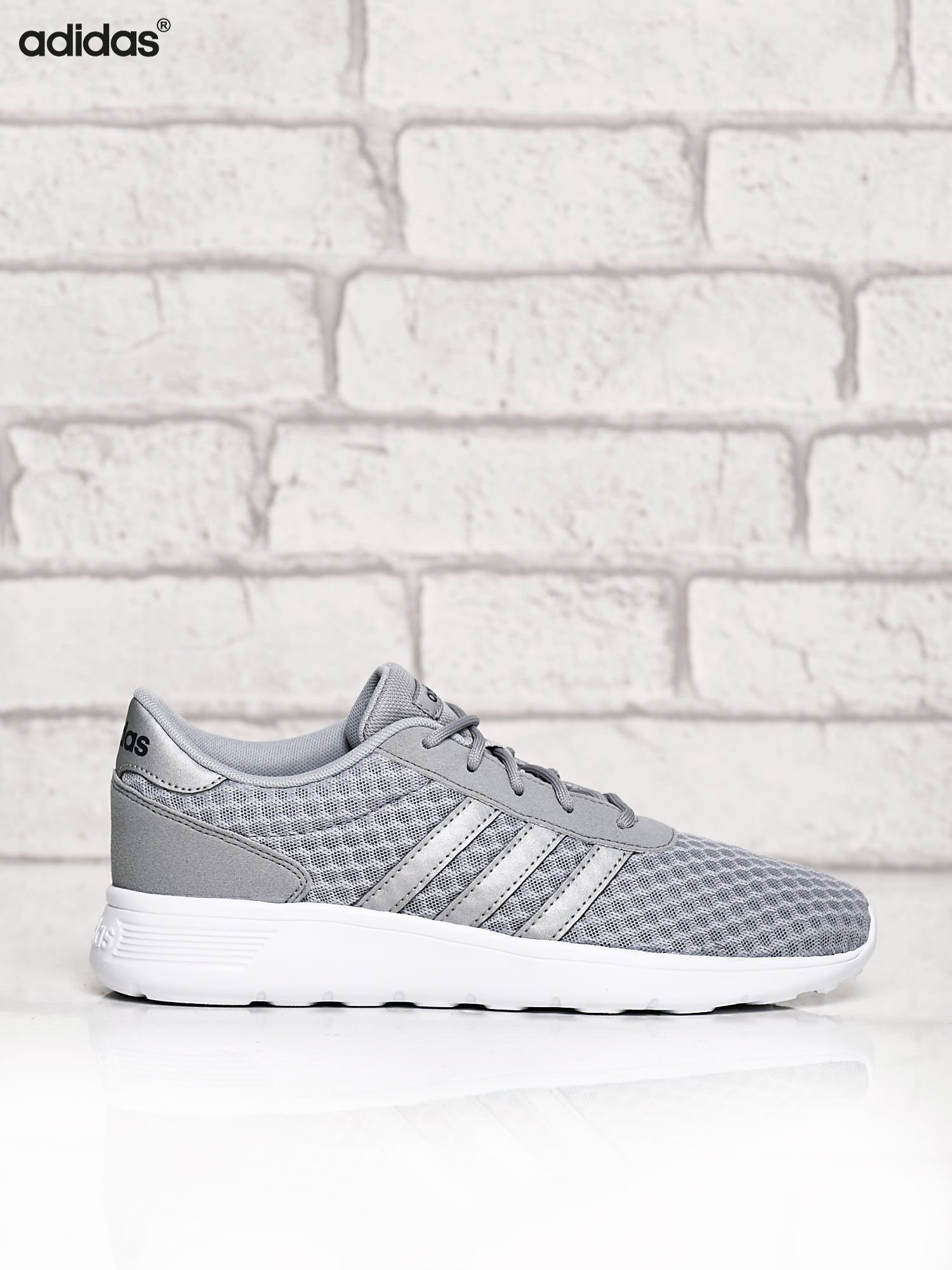 ADIDAS srebrne buty sportowe LITE RACER W ze wzorem                                  zdj.                                  1