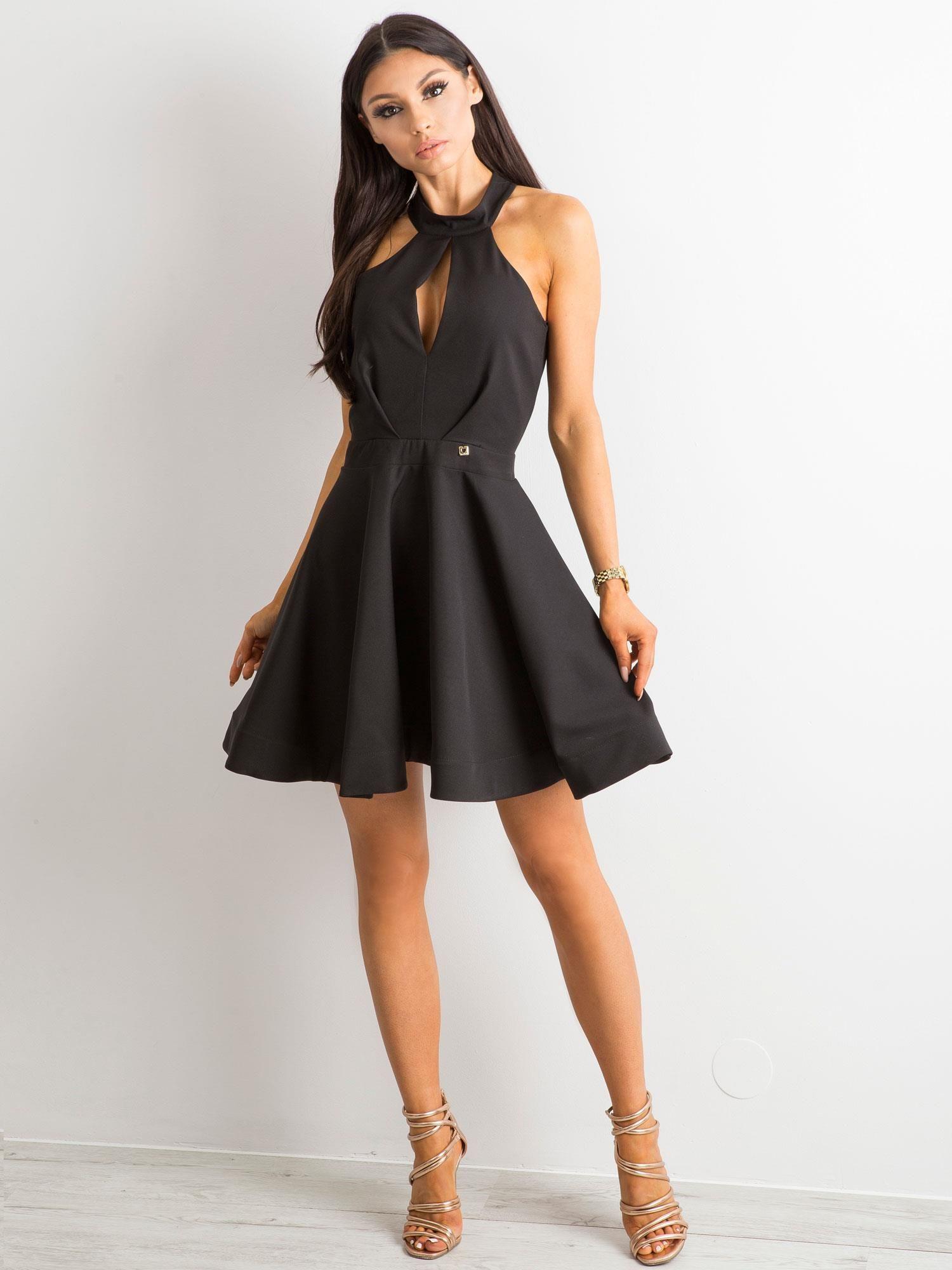 a04804dd94 BY O LA LA Rozkloszowana sukienka czarna - Sukienka rozkloszowana ...