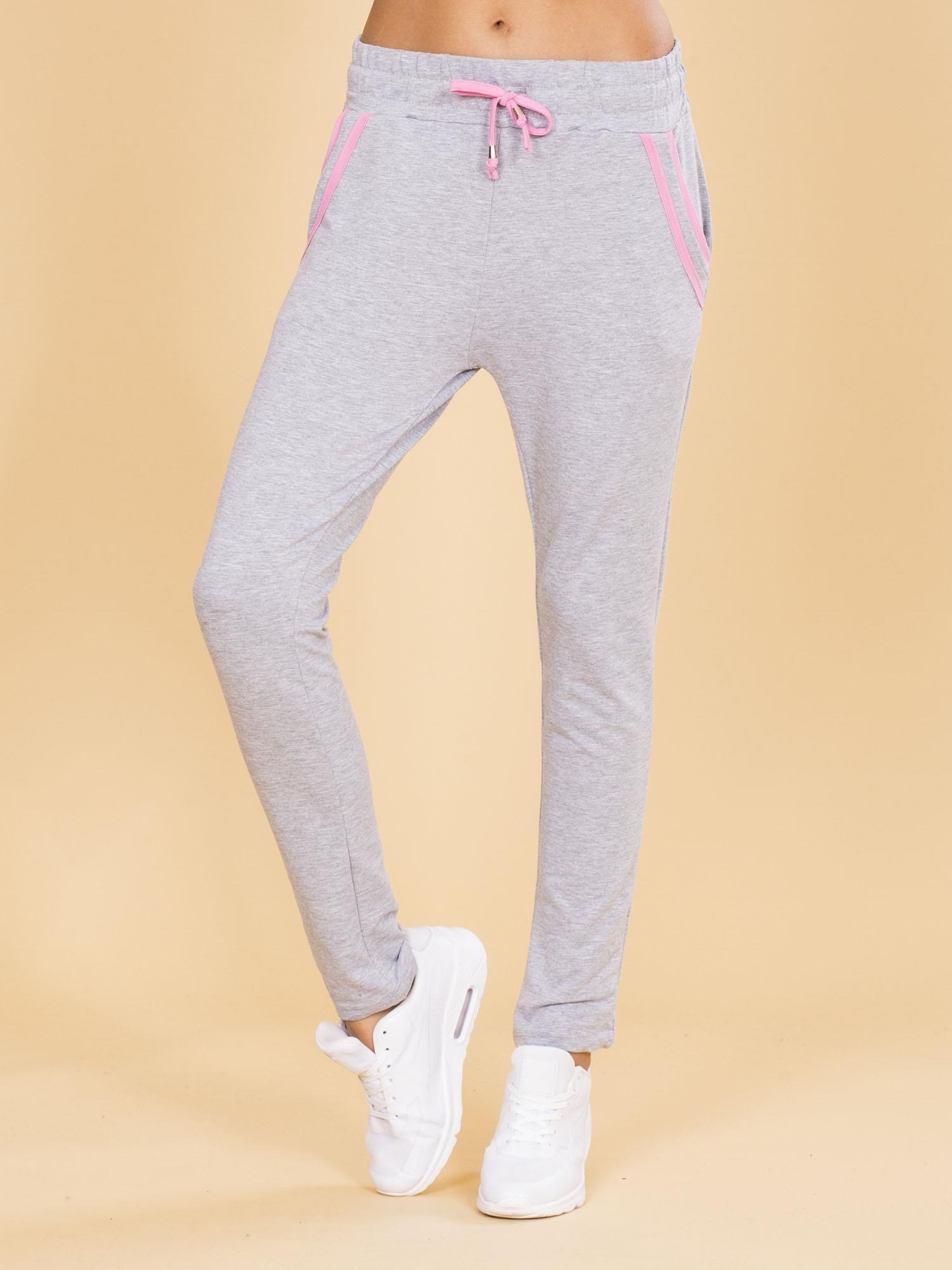 fa67da9c48cf5a Bawełniane damskie spodnie dresowe szare - Spodnie Dresowe - sklep ...