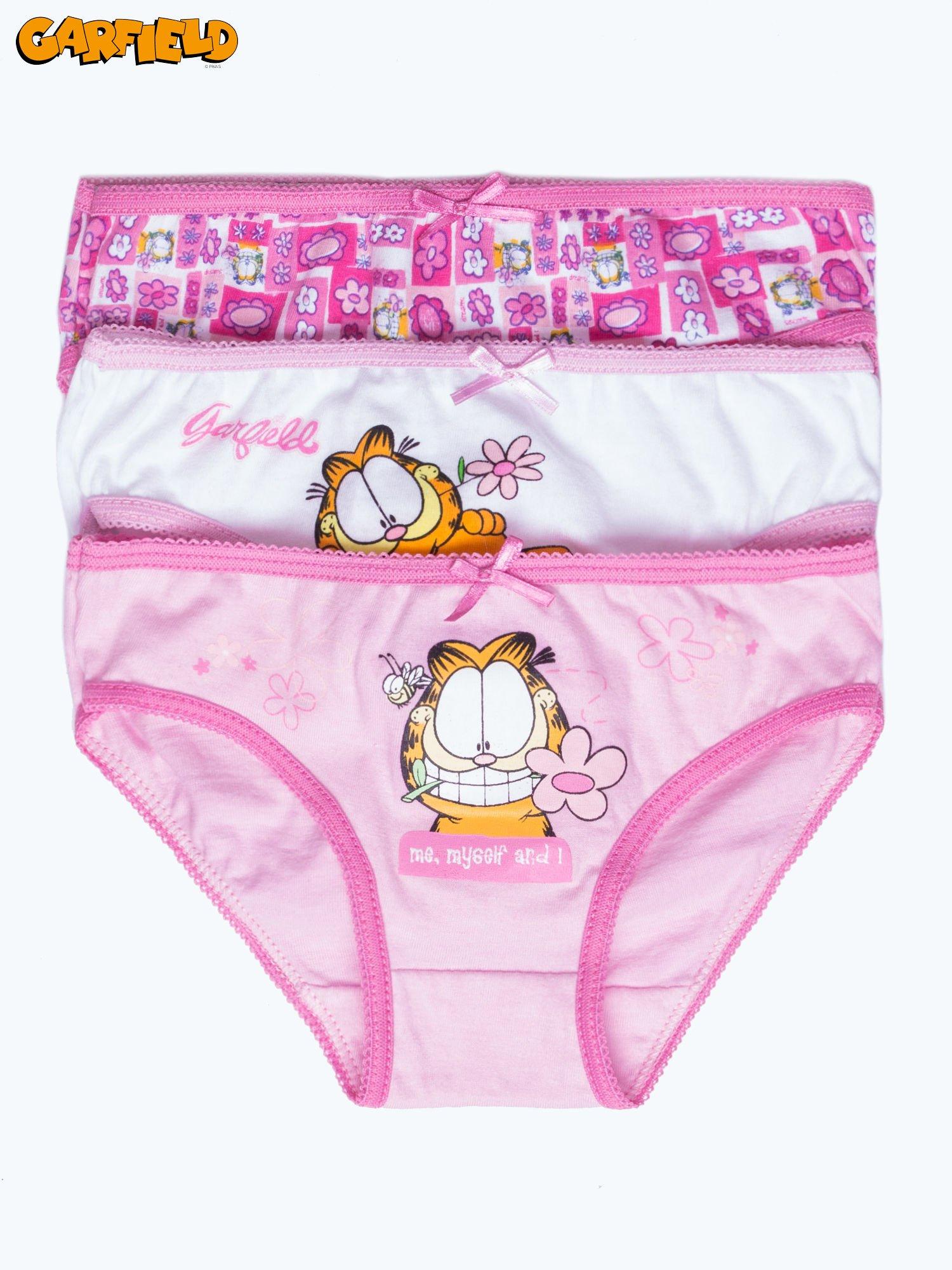Bawełniane majtki dla dziewczynki GARFIELD 3 szt                                  zdj.                                  1