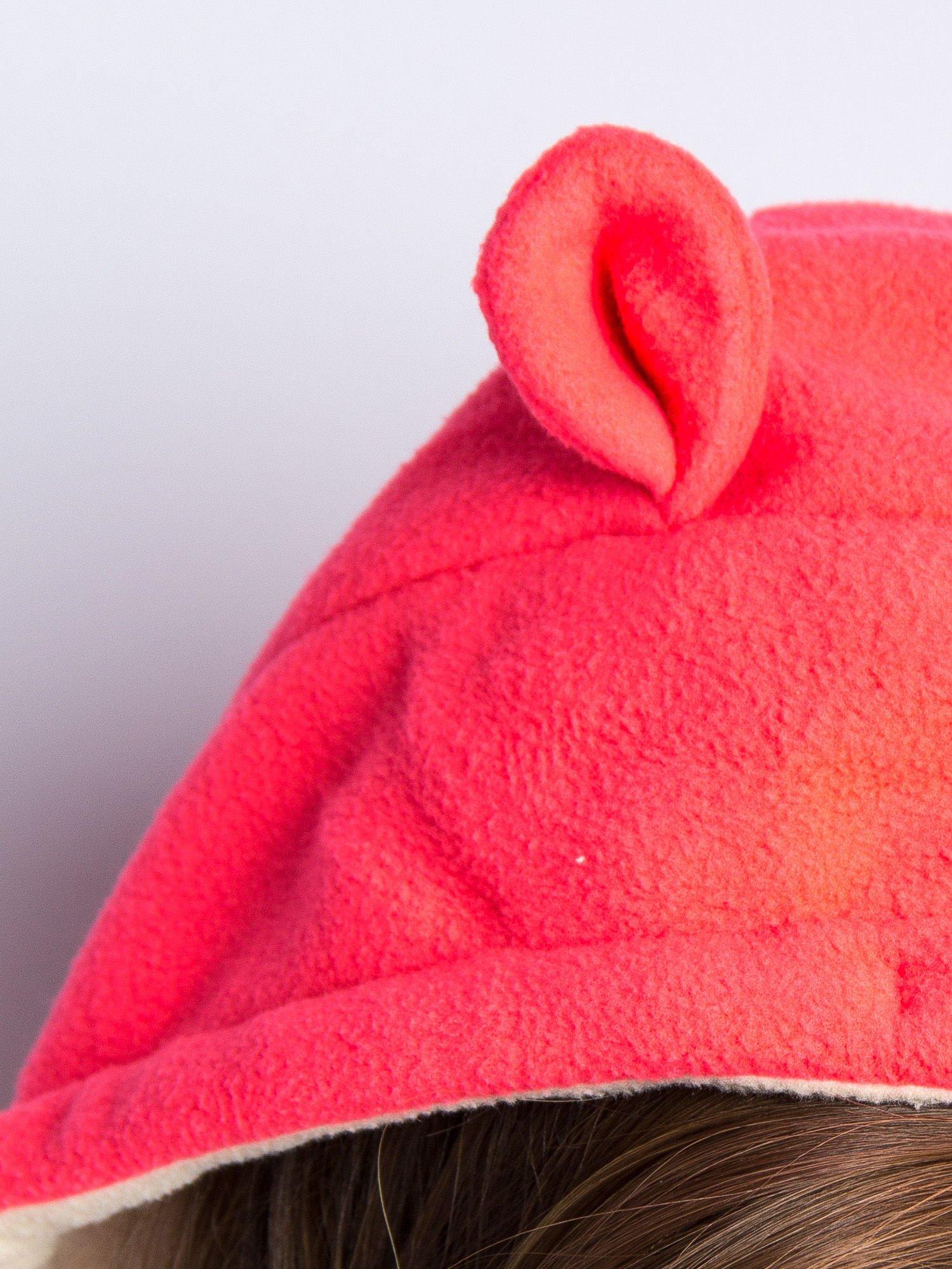 Beżowa bluza polarowa z kapturem z uszkami                                  zdj.                                  9