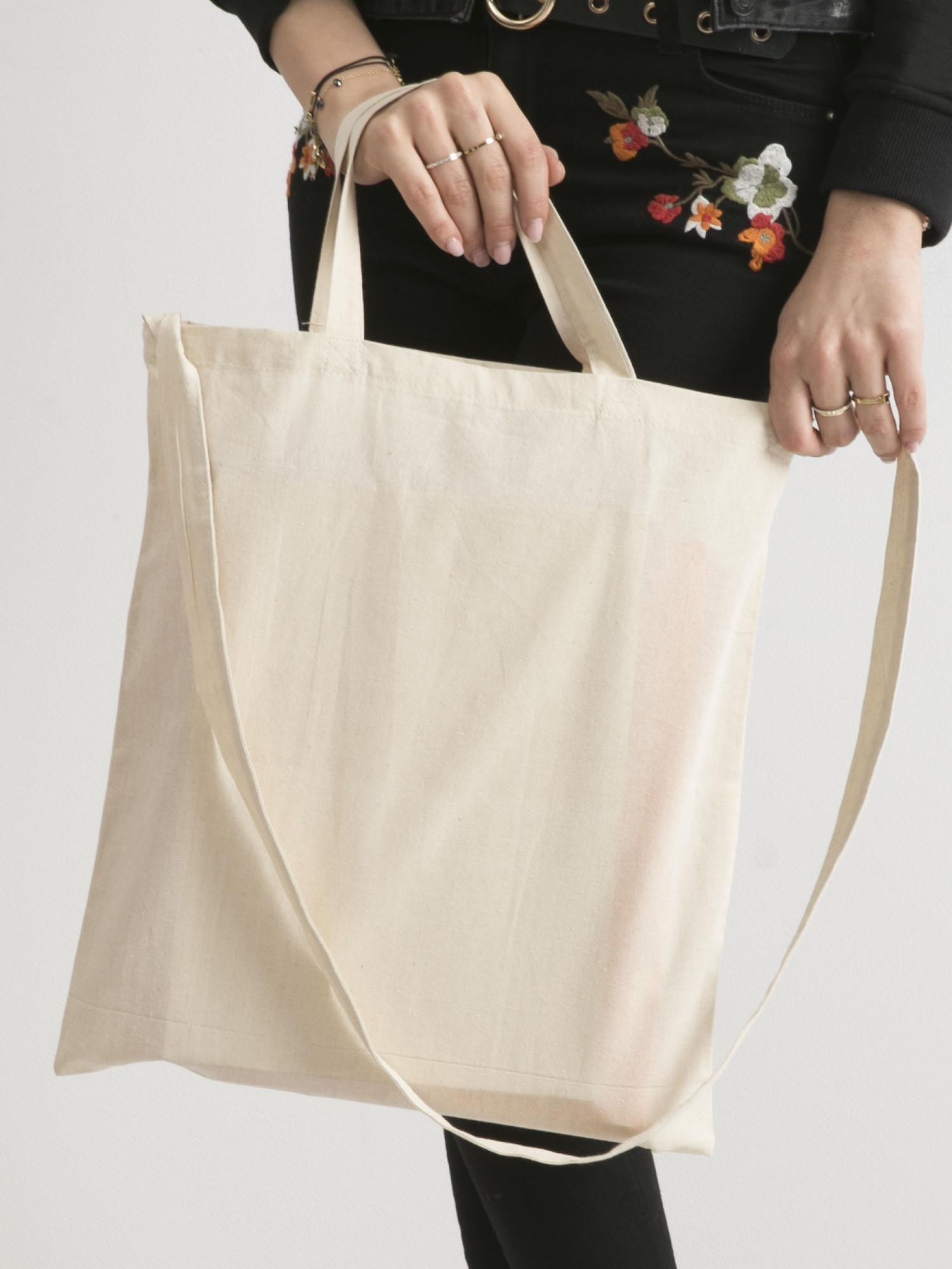 a4f55638e0ba7 Beżowa eko torba z nadrukiem flamingów - Akcesoria torba - sklep eButik.pl