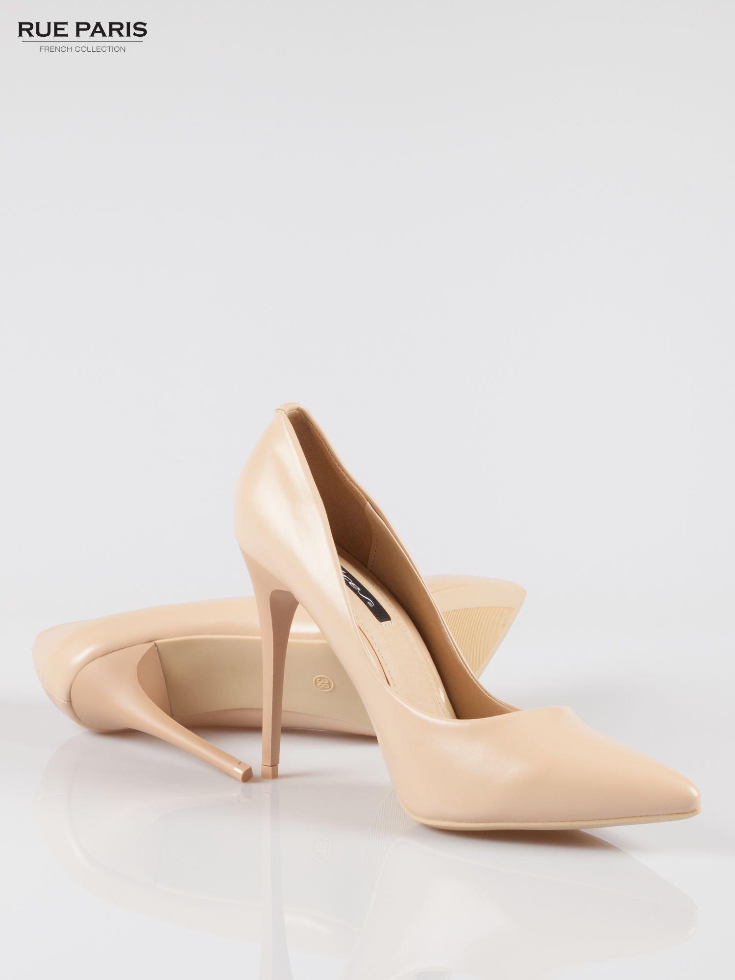 Beżowe szpilki high heels z noskiem w szpic                                  zdj.                                  4