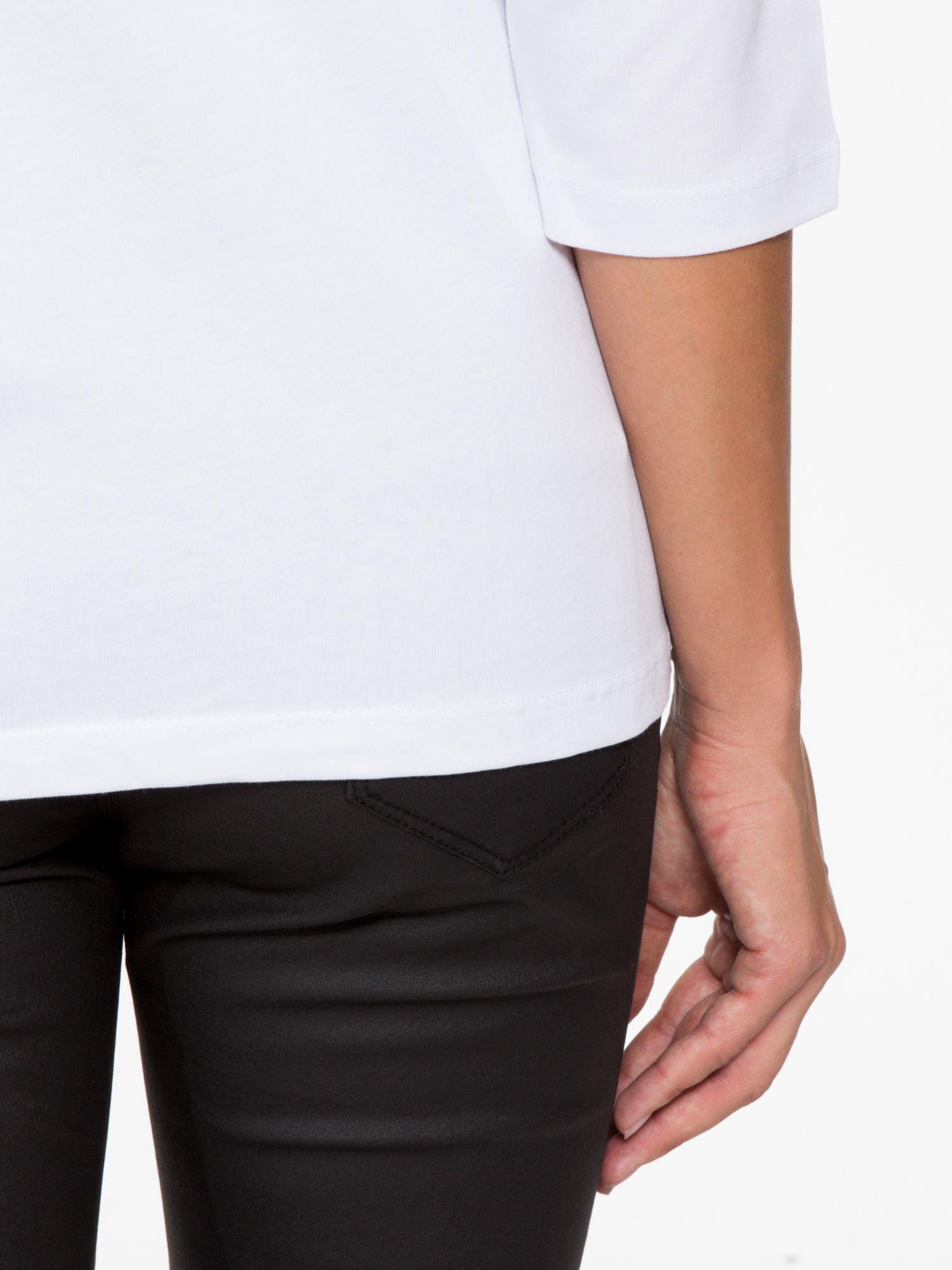 Biała basicowa bluzka z rękawem 3/4                                  zdj.                                  9