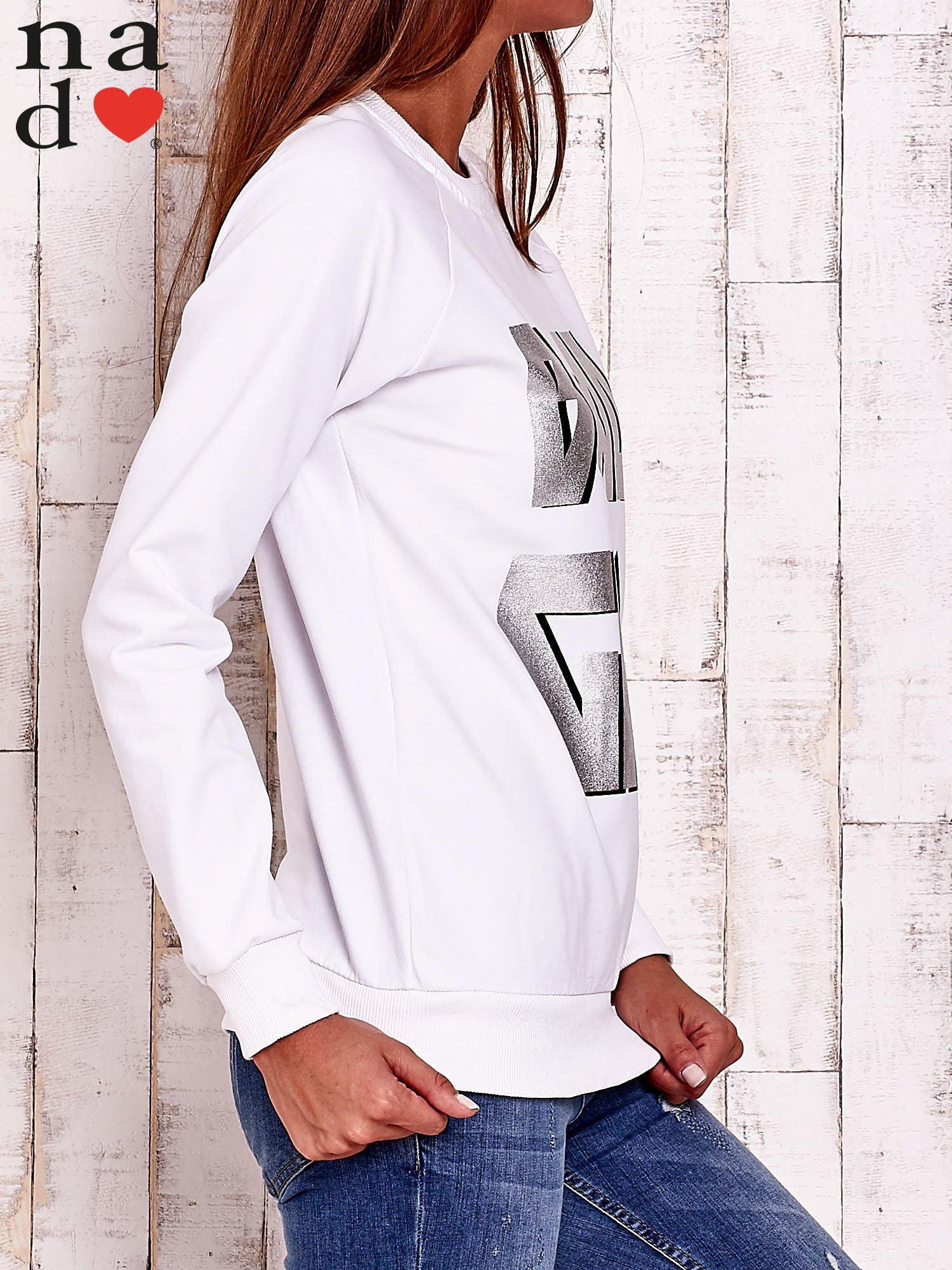 Biała bluza z napisem BAD GIRL                                  zdj.                                  3
