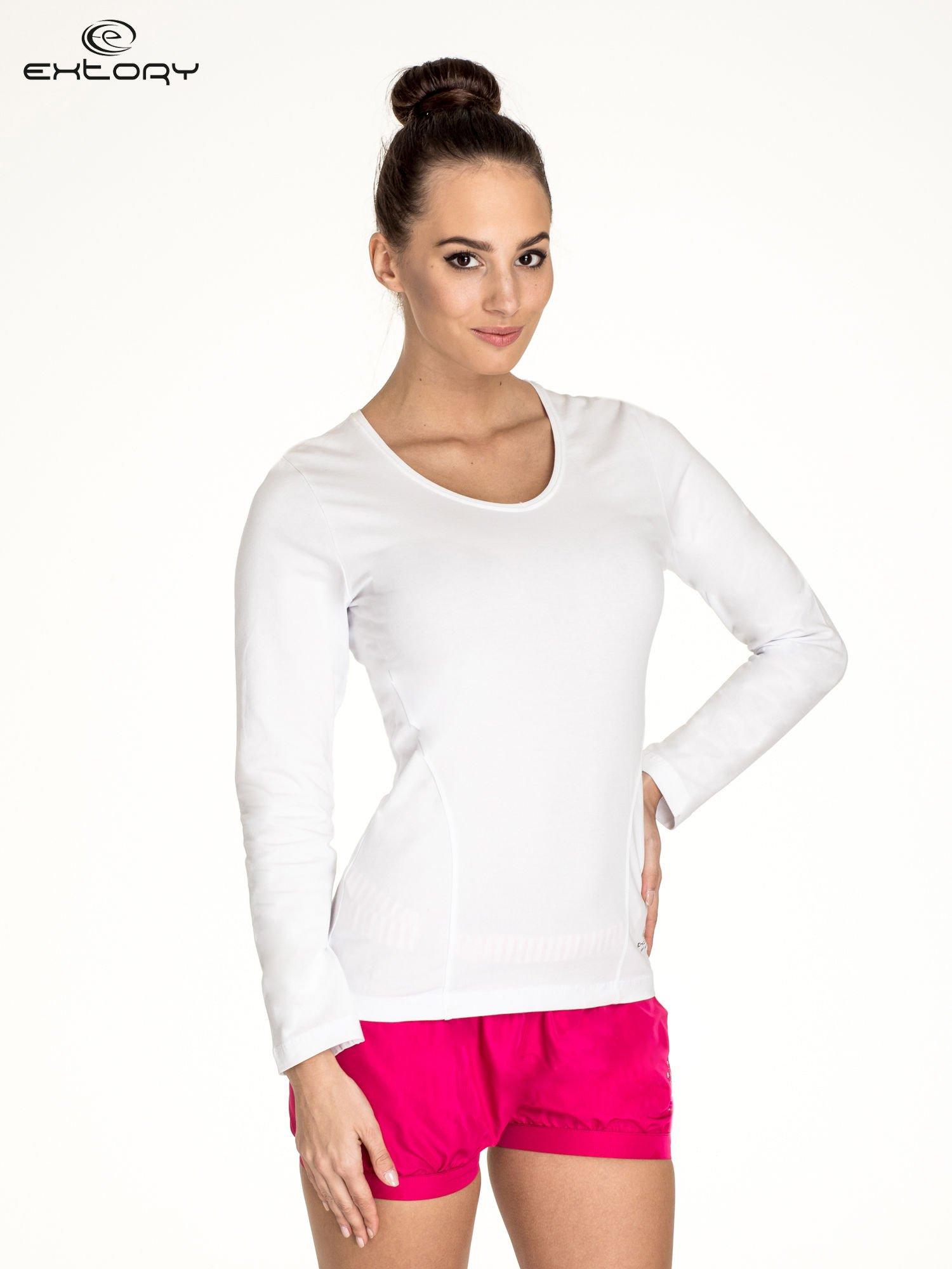 Biała bluzka sportowa basic PLUS SIZE                                  zdj.                                  1