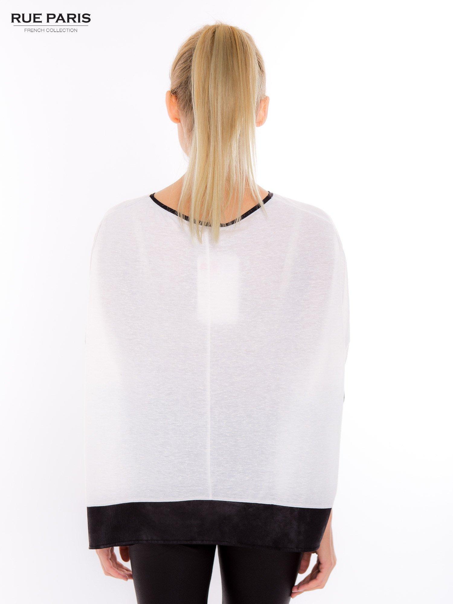 Biała bluzka z kontrastowymi wstawkami                                  zdj.                                  9