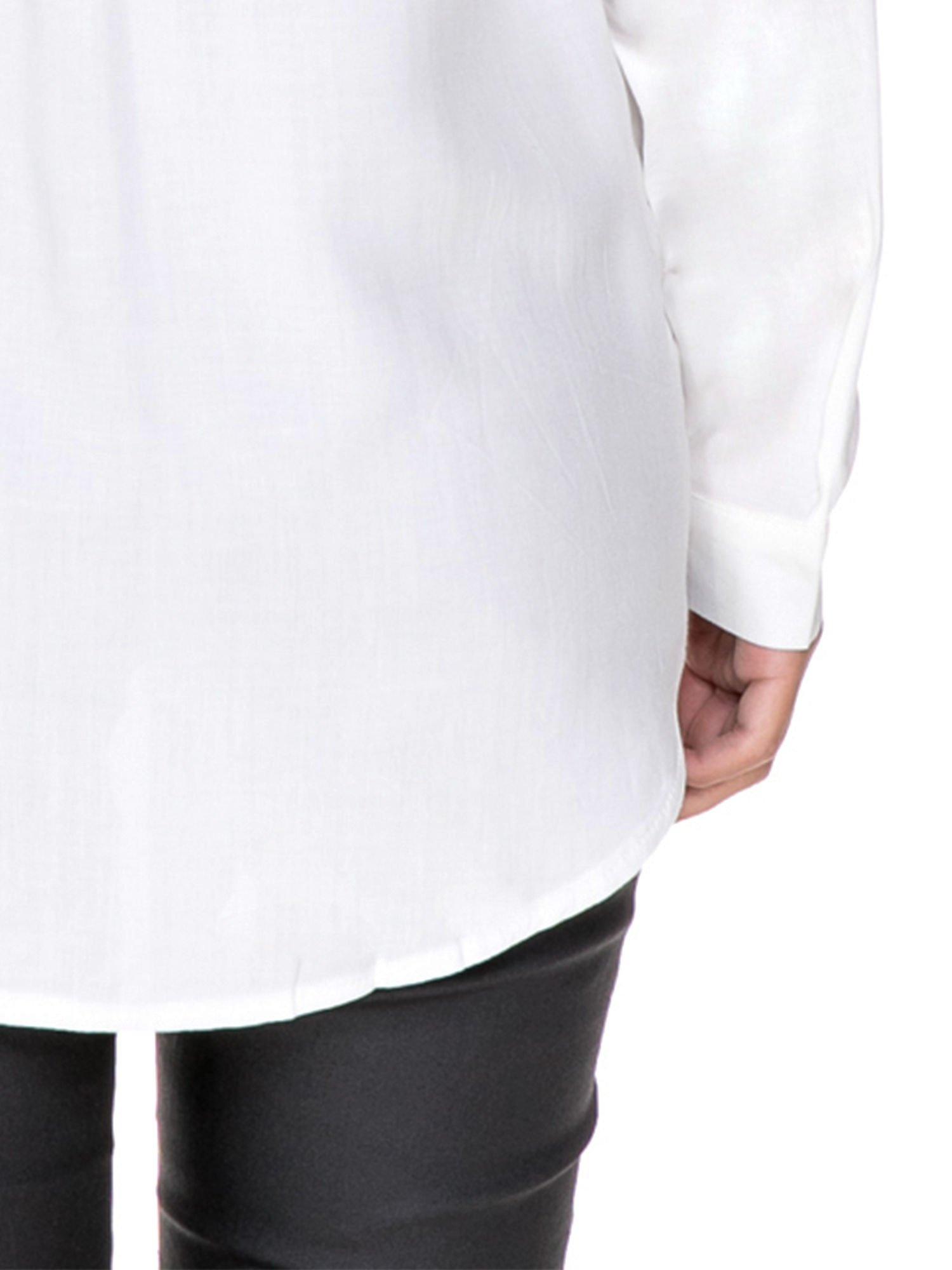 Biała koszula z aplikacją gwiazd na ramionach                                  zdj.                                  9