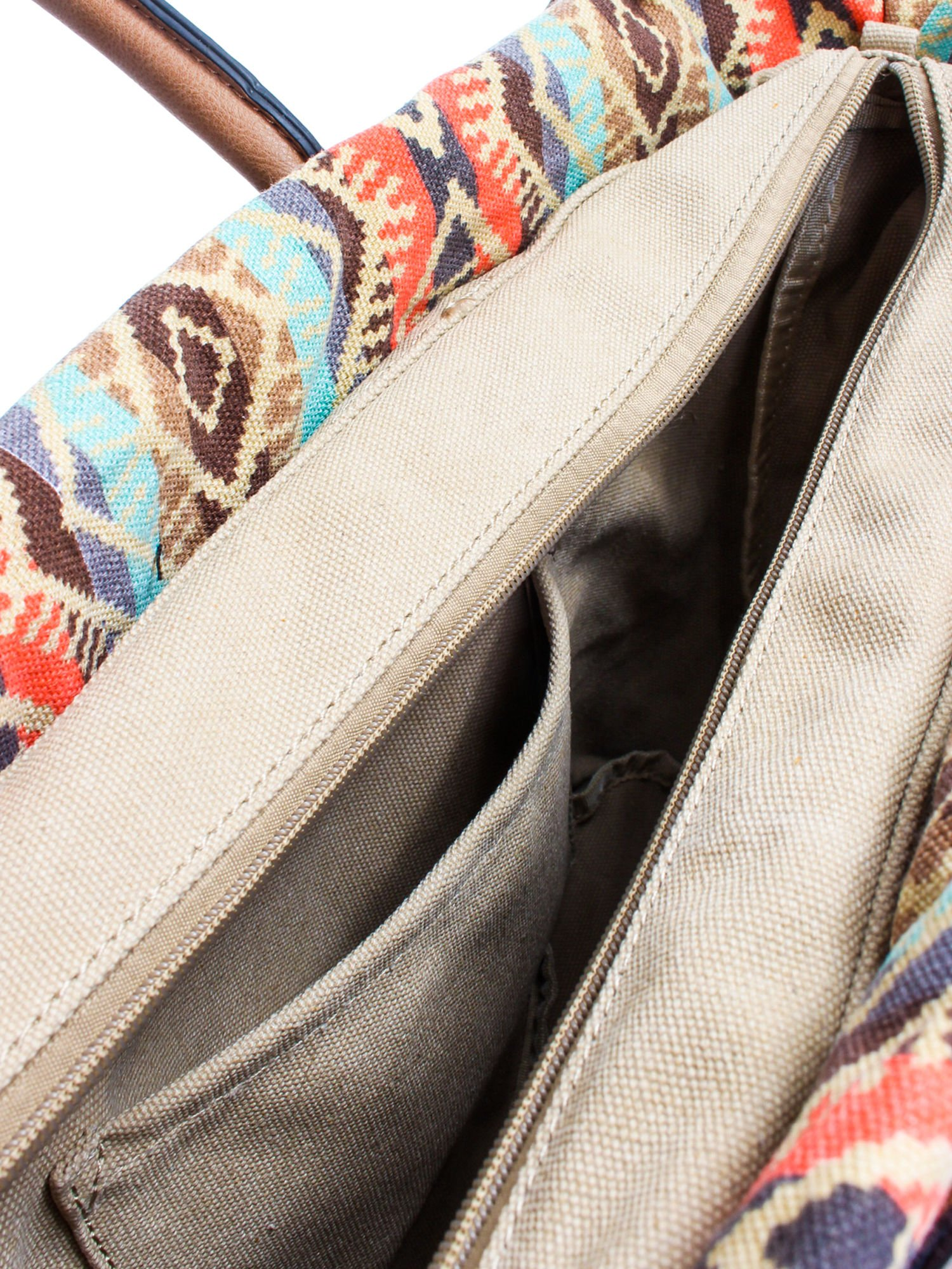Biała torba gumowa z motywem azteckim                                  zdj.                                  9