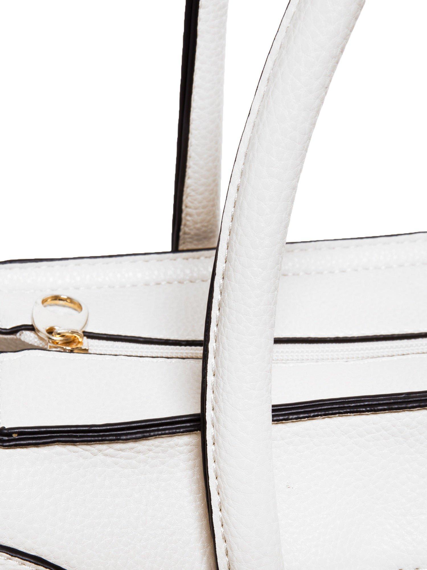 Biała trapezowa torba miejska                                  zdj.                                  4