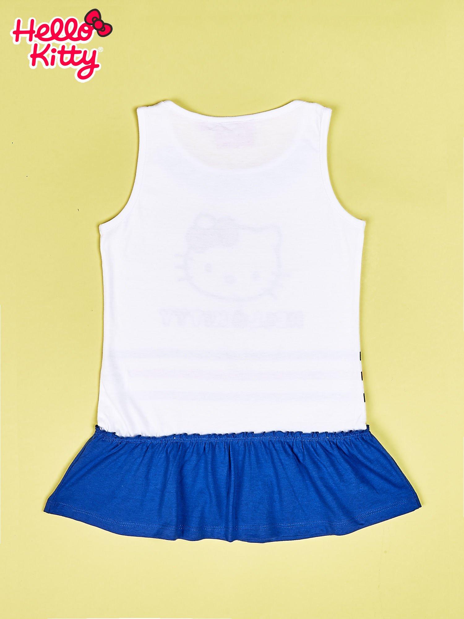 Biała tunika dla dziewczynki HELLO KITTY                                  zdj.                                  2