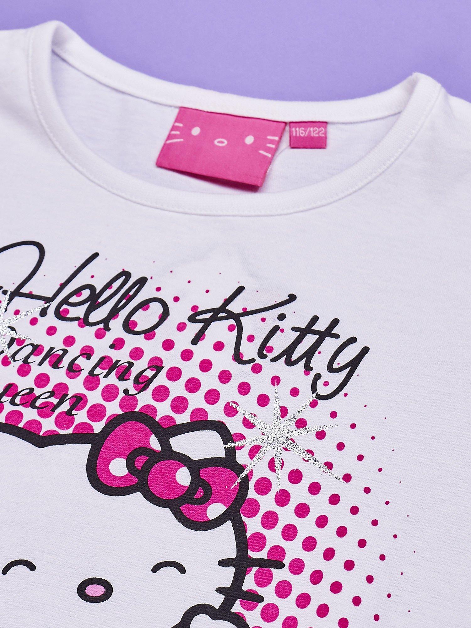 Biała tunika dla dziewczynki nadruk HELLO KITTY                                  zdj.                                  4