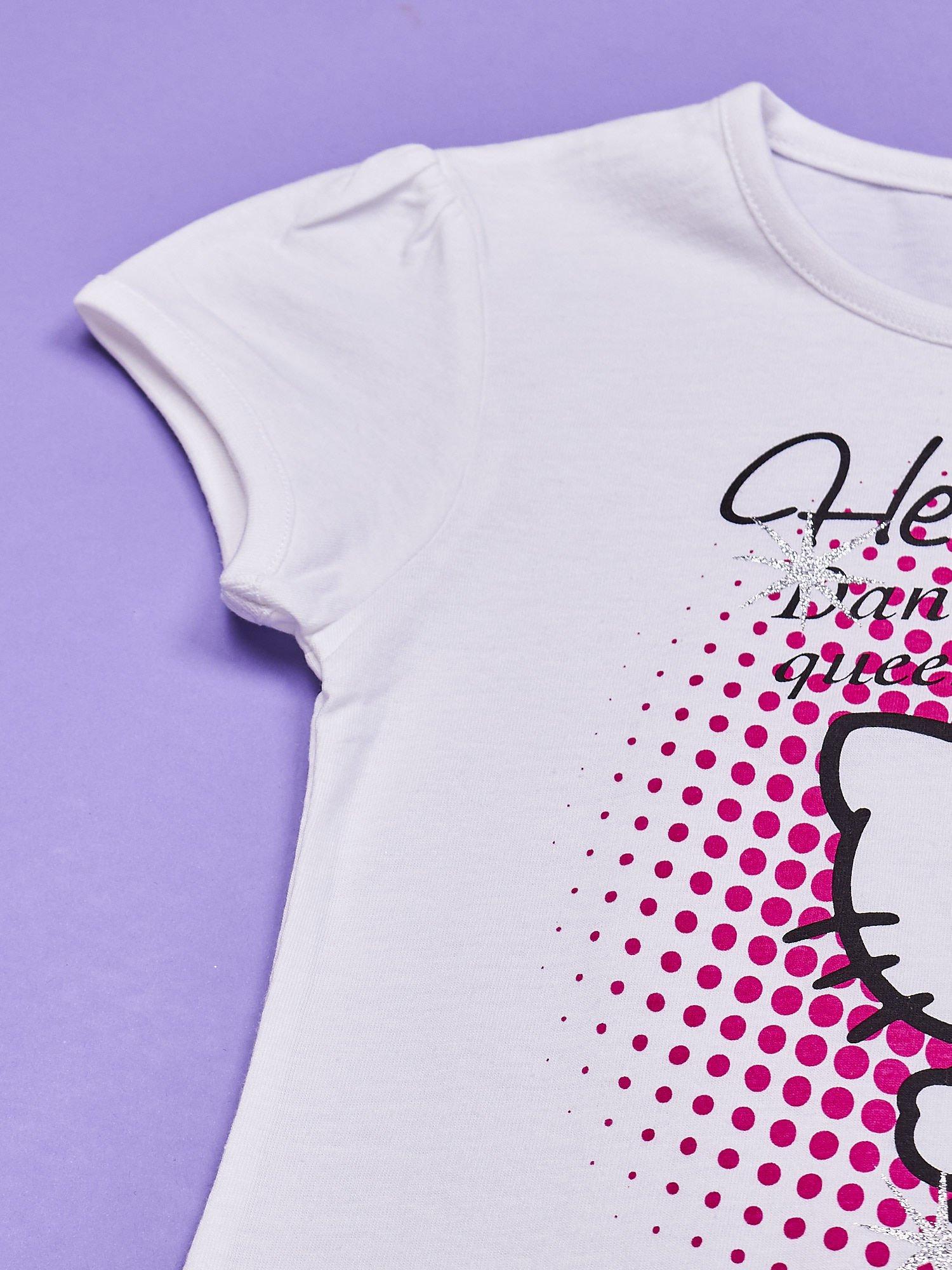 Biała tunika dla dziewczynki nadruk HELLO KITTY                                  zdj.                                  6