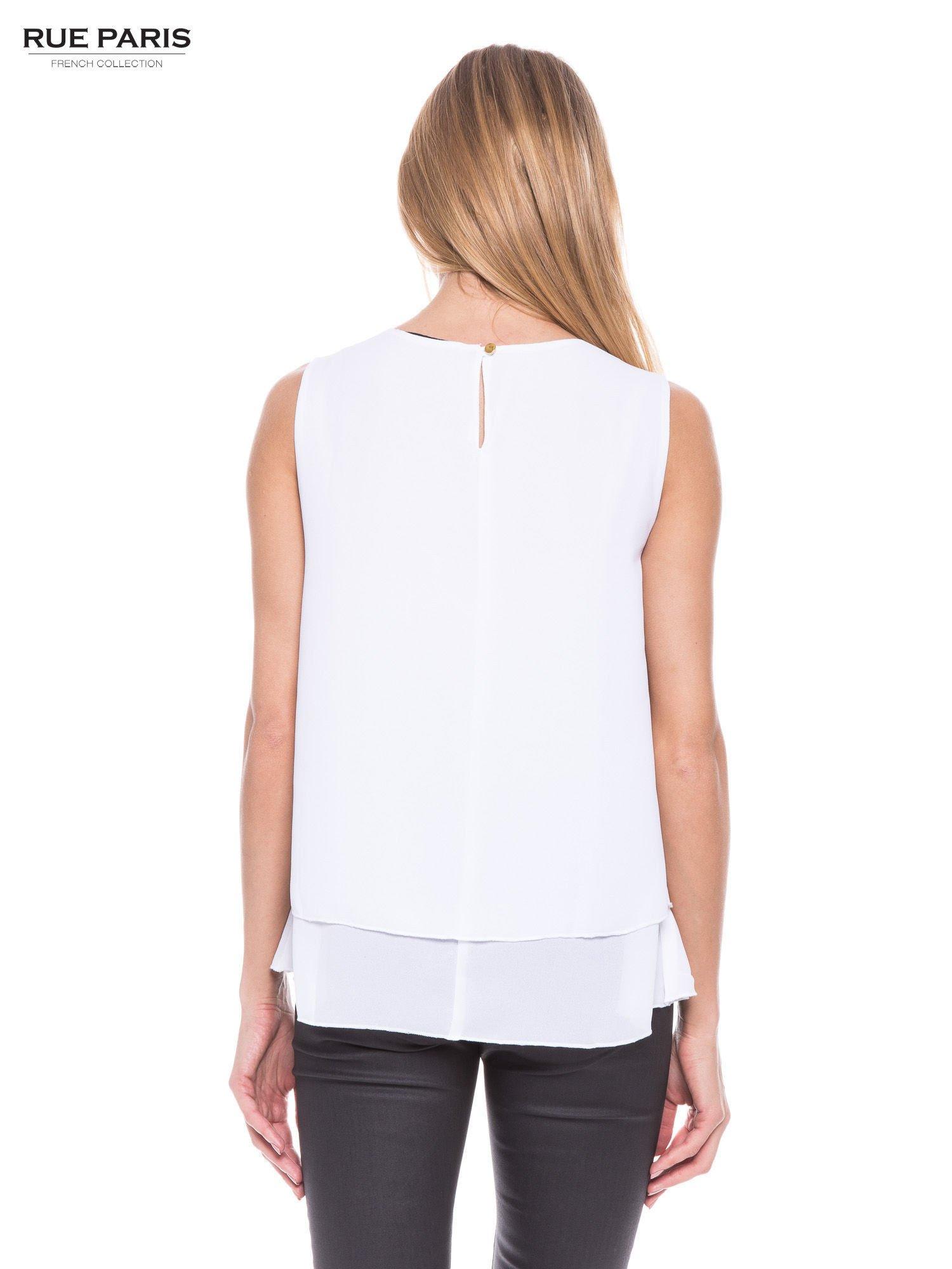 Biała zwiewna koszula dwuwarstwowa                                  zdj.                                  3