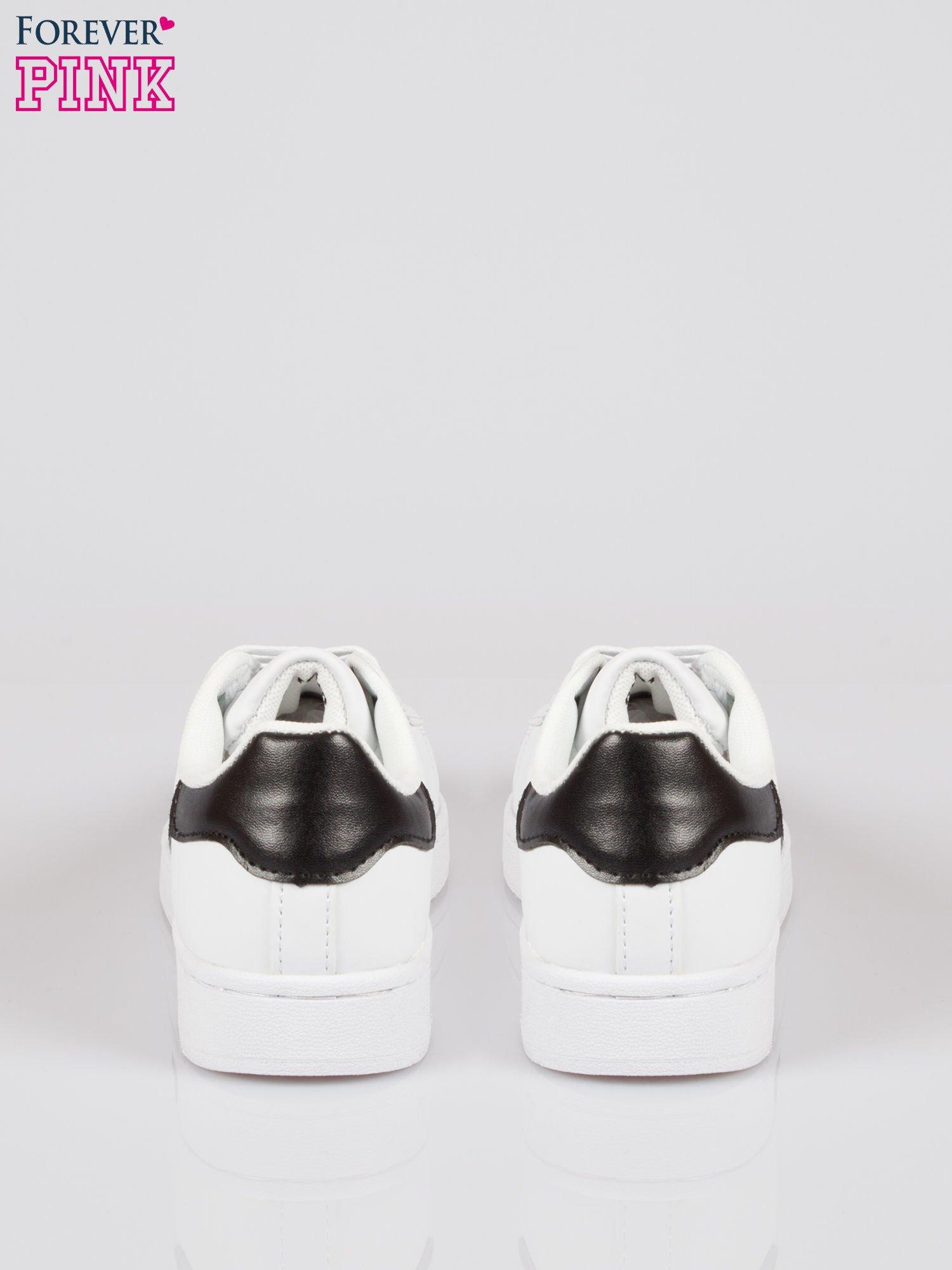 Białe adidasy damskie z czarną wstawką                                  zdj.                                  3