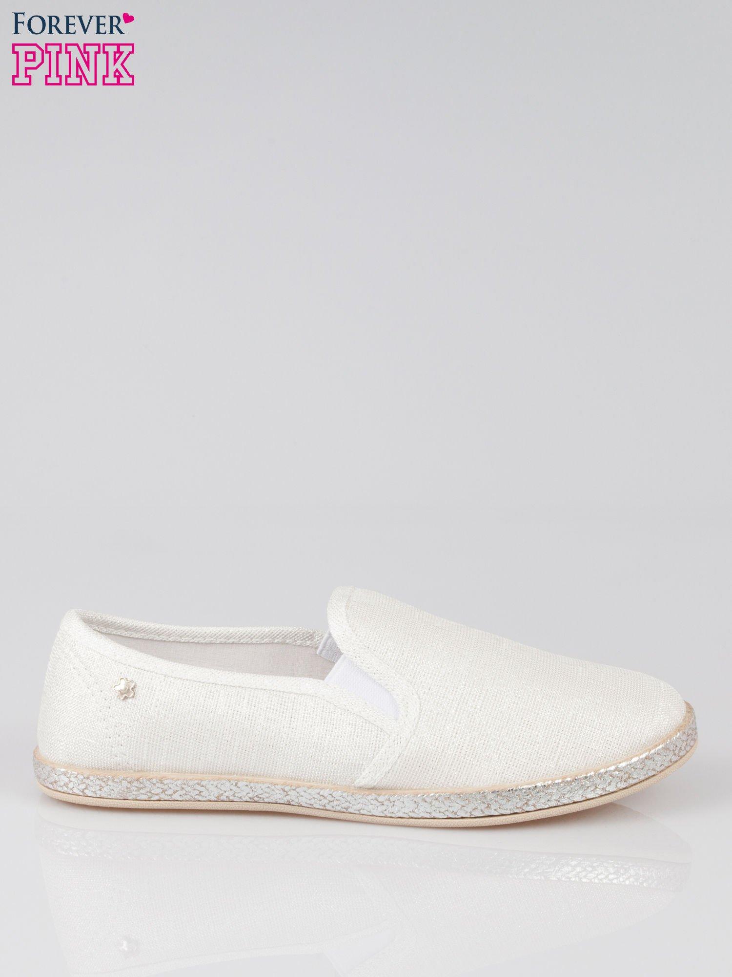 Białe buty slip-on                                  zdj.                                  1