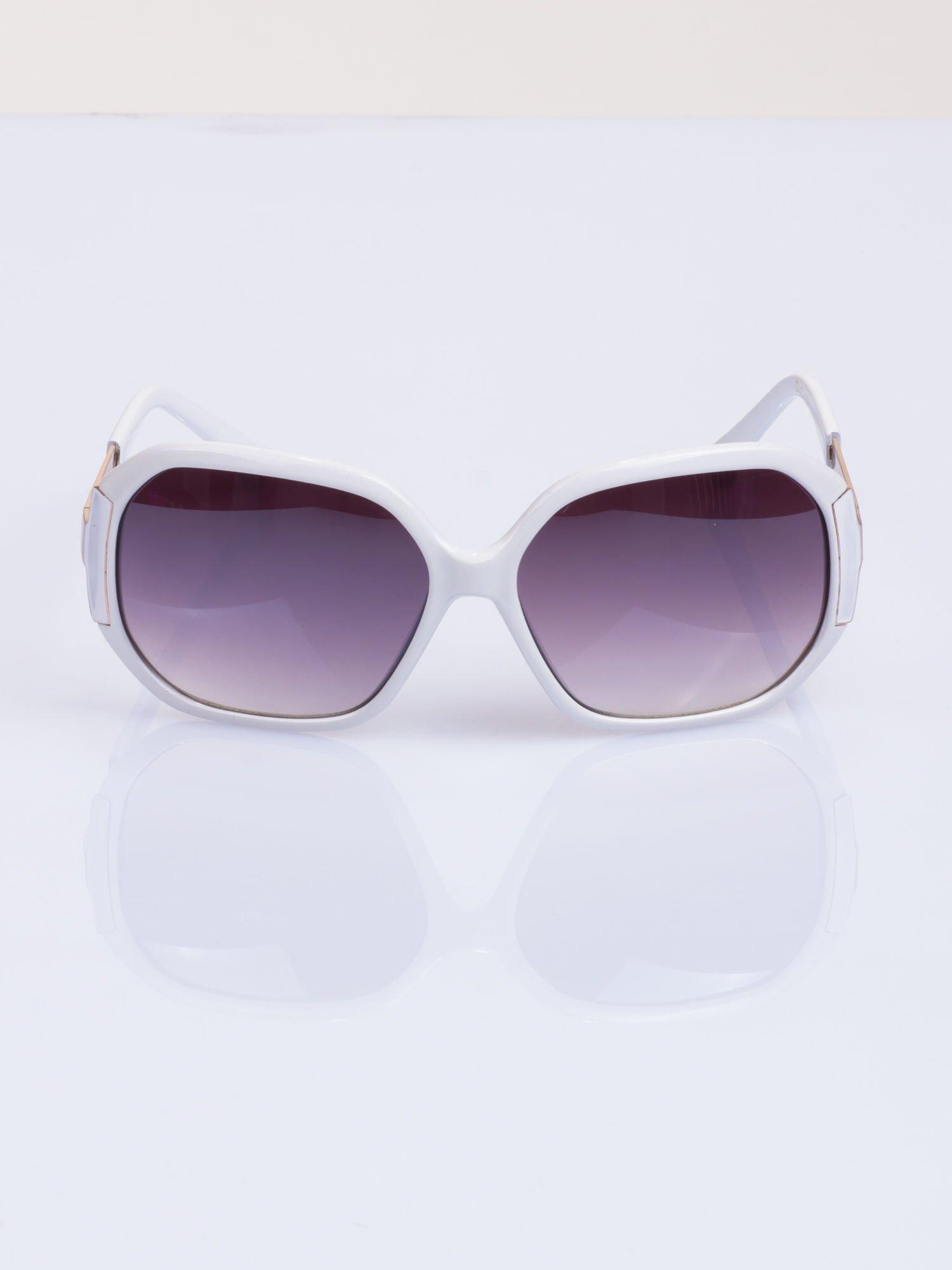 Białe eleganckie okulary                                  zdj.                                  1