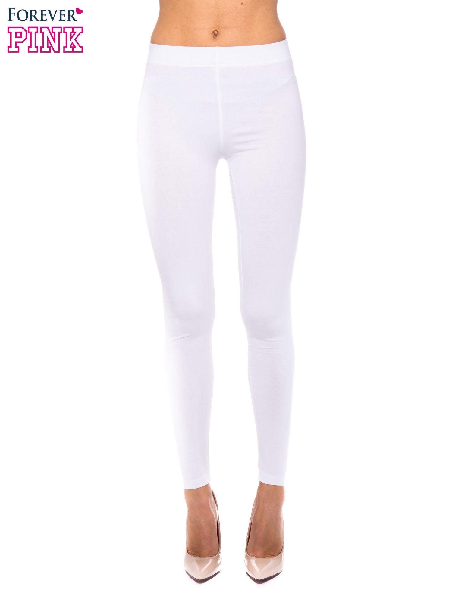Białe legginsy z bawełny                                  zdj.                                  1