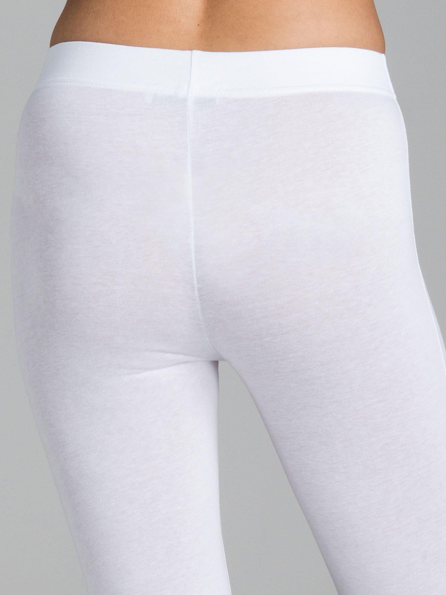 Białe legginsy ze złotymi zamkami                                  zdj.                                  7