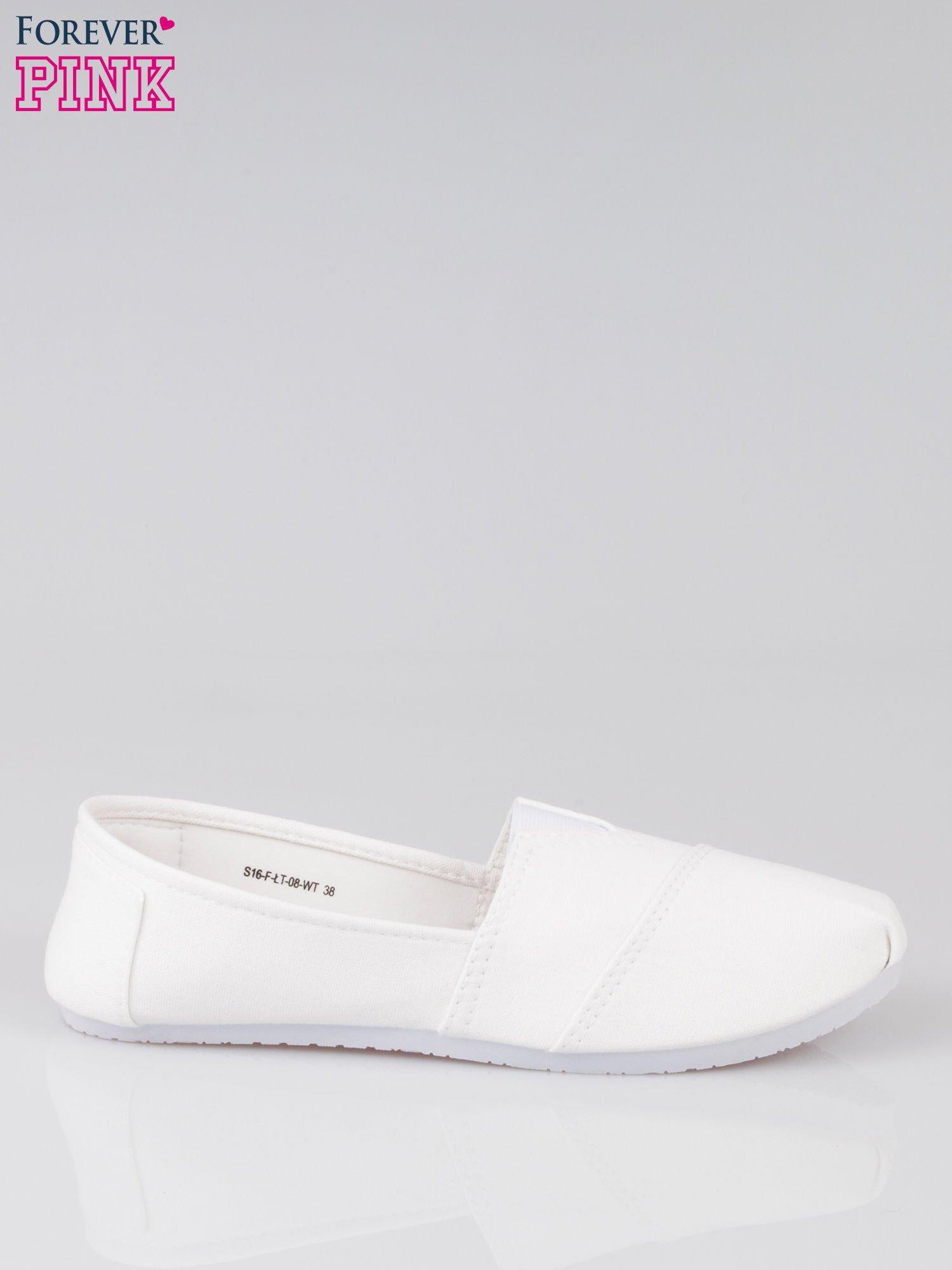 Białe lekkie buty slip on                                  zdj.                                  1