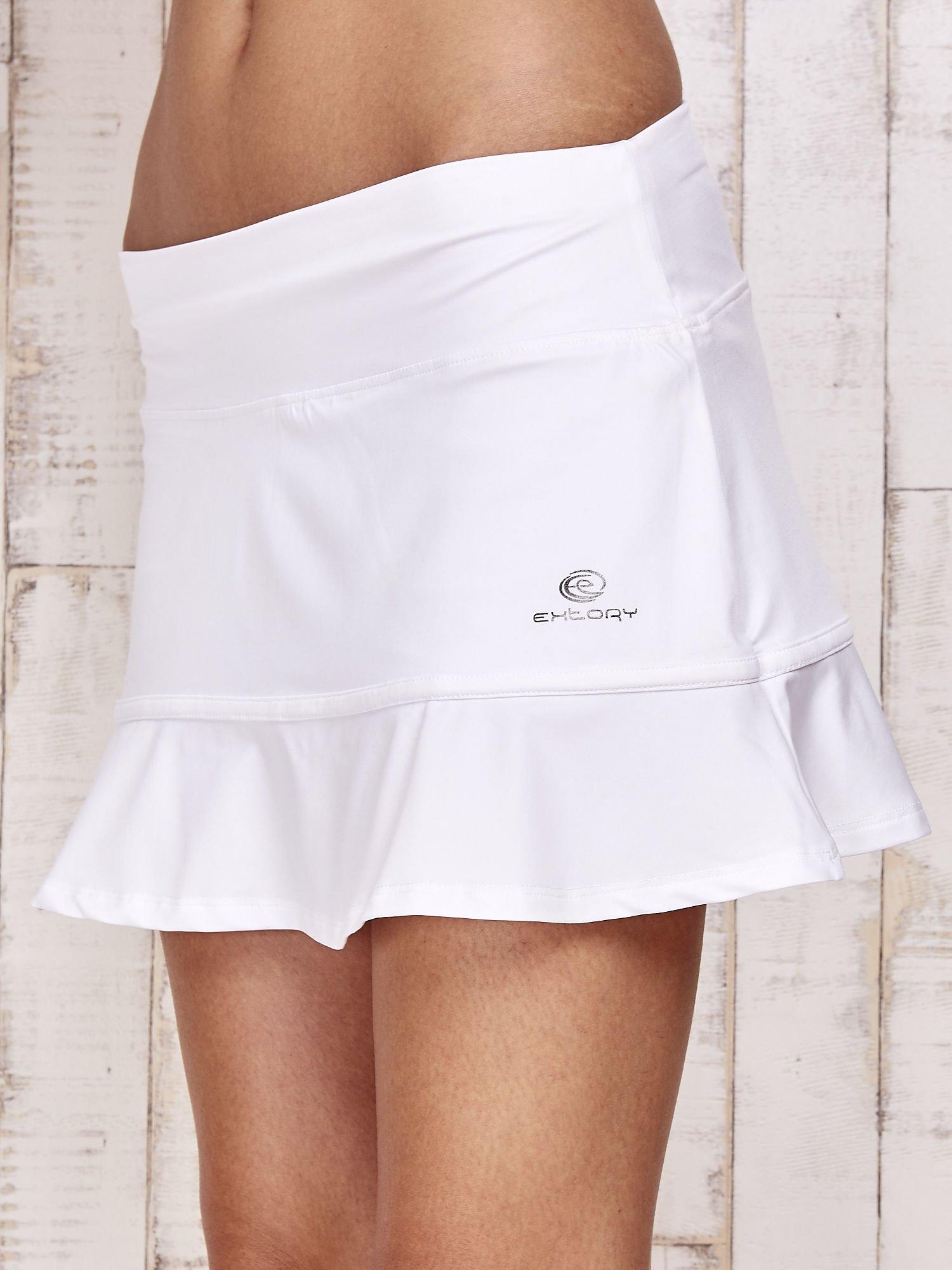 Białe spodenki spódniczka tenisowa z falbanką                                  zdj.                                  7