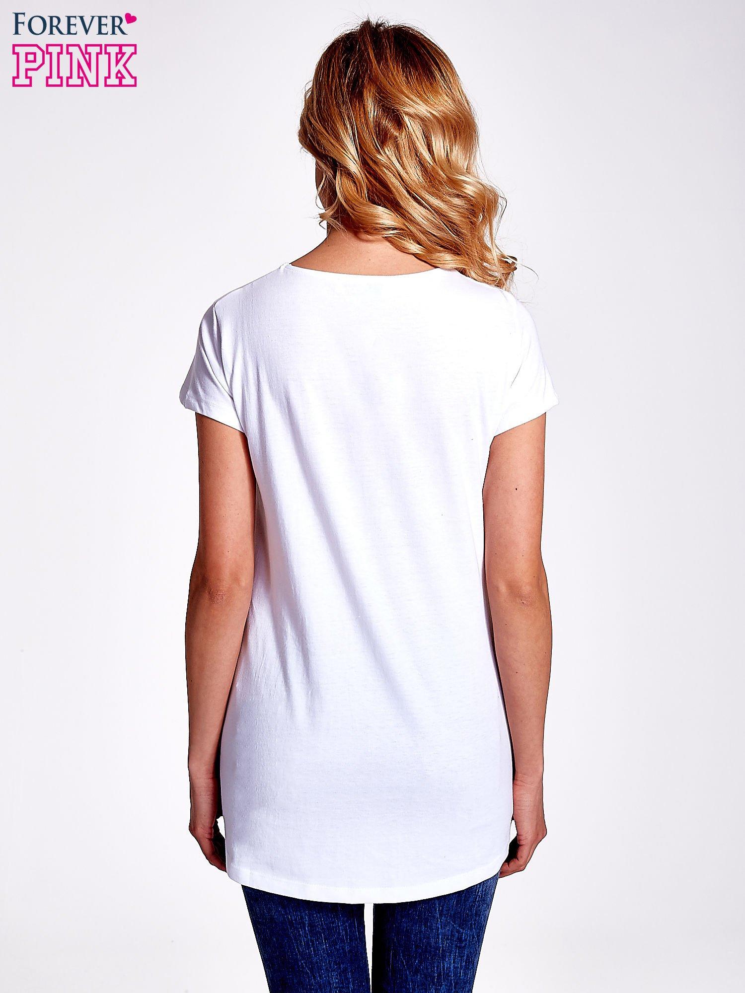 Biały jednolity t-shirt                                  zdj.                                  4