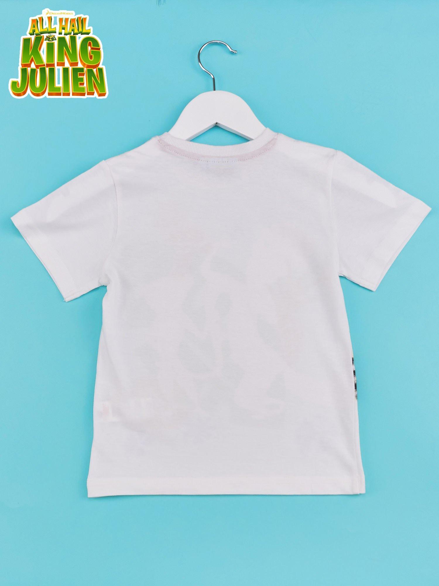 Biały t-shirt chłopięcy KRÓL JULIAN                                  zdj.                                  2