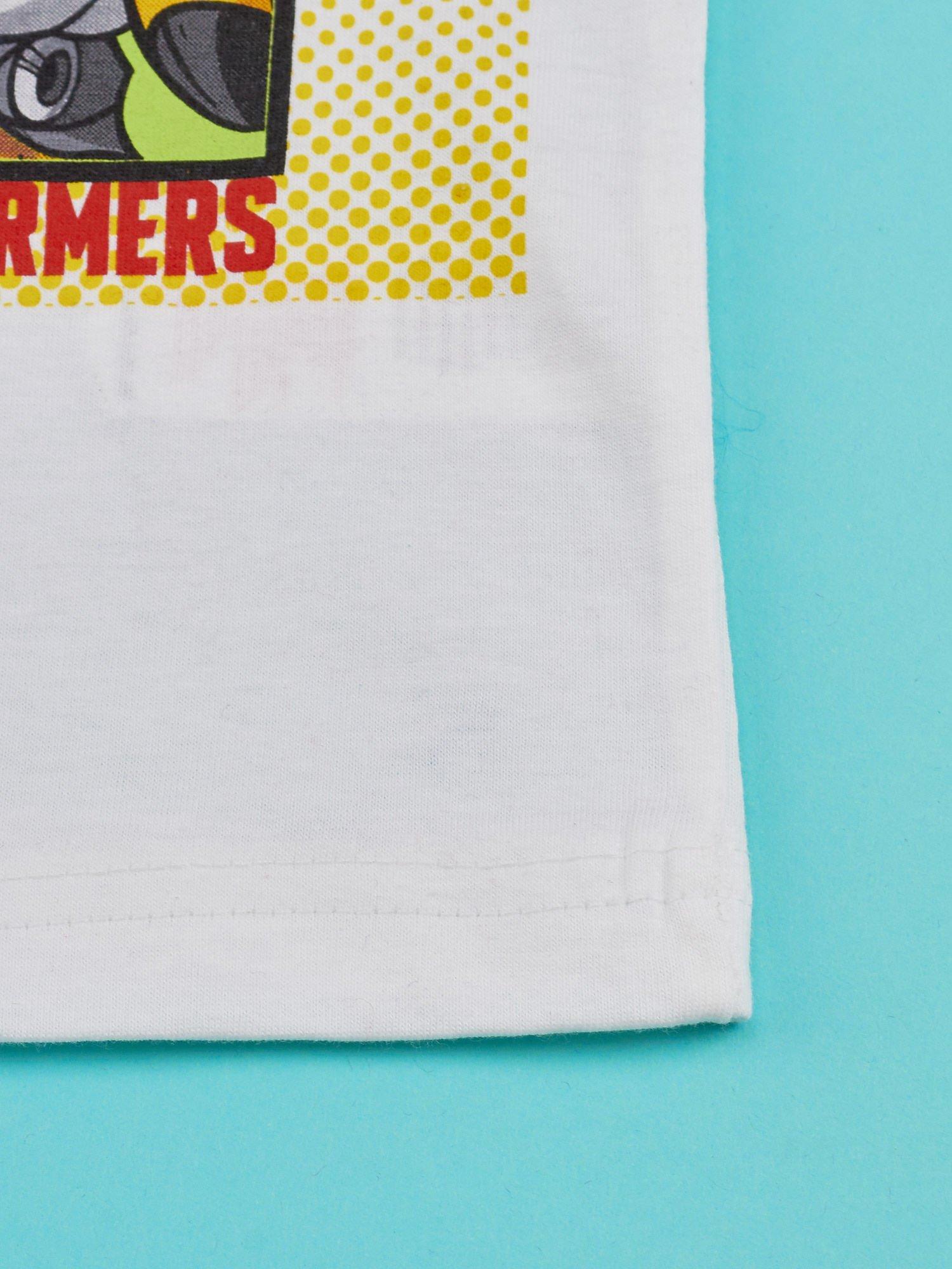 Biały t-shirt chłopięcy z nadrukiem TRANSFORMERS                                  zdj.                                  5