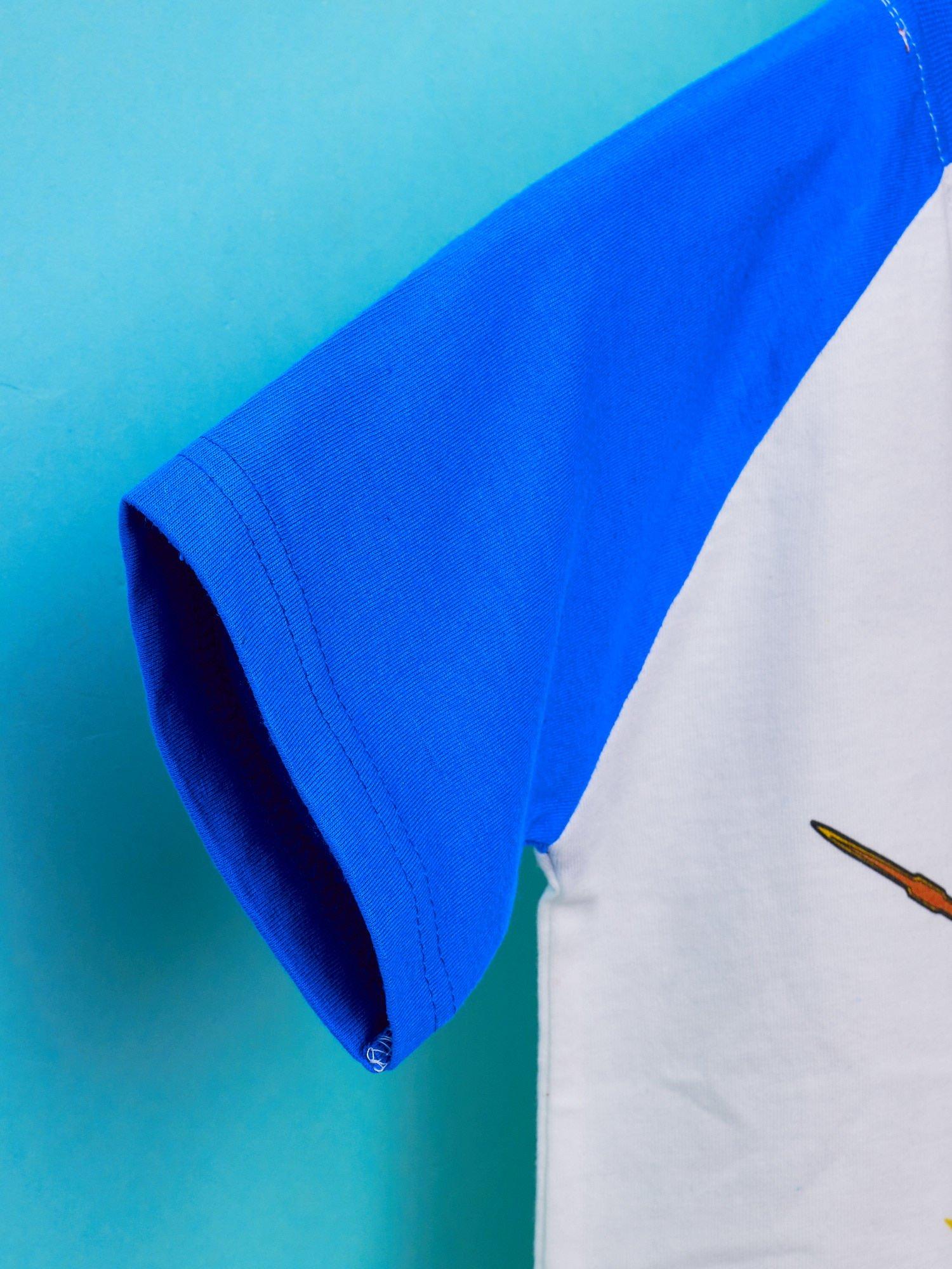 Biały t-shirt chłopięcy z nadrukiem TRANSFORMERS                                  zdj.                                  6