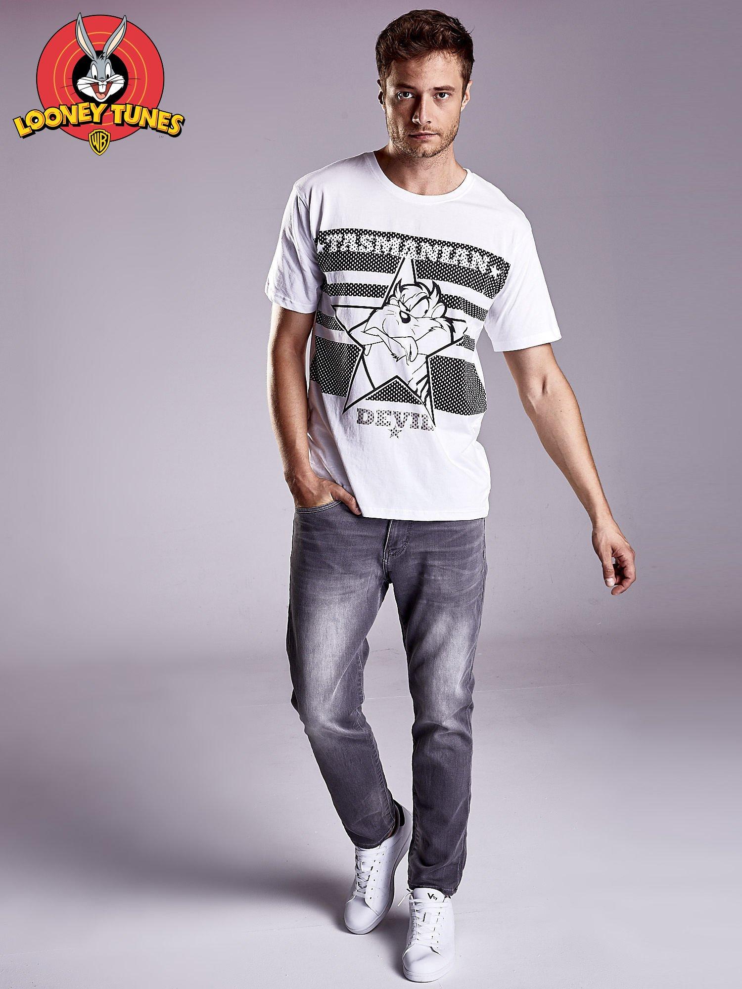 Biały t-shirt męski LOONEY TUNES                                  zdj.                                  5