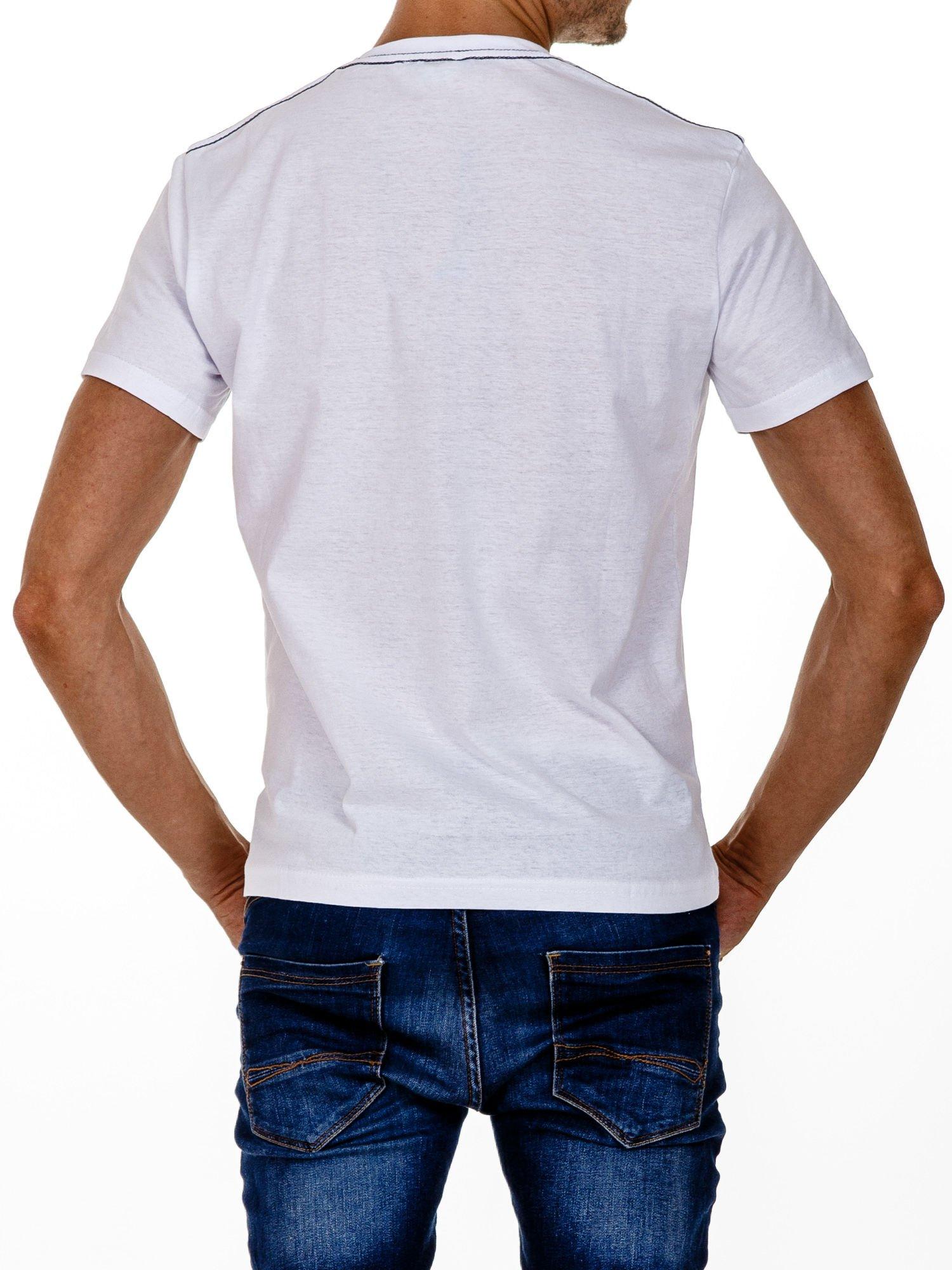 Biały t-shirt męski z napisem BROOKLYN NYC                                  zdj.                                  5