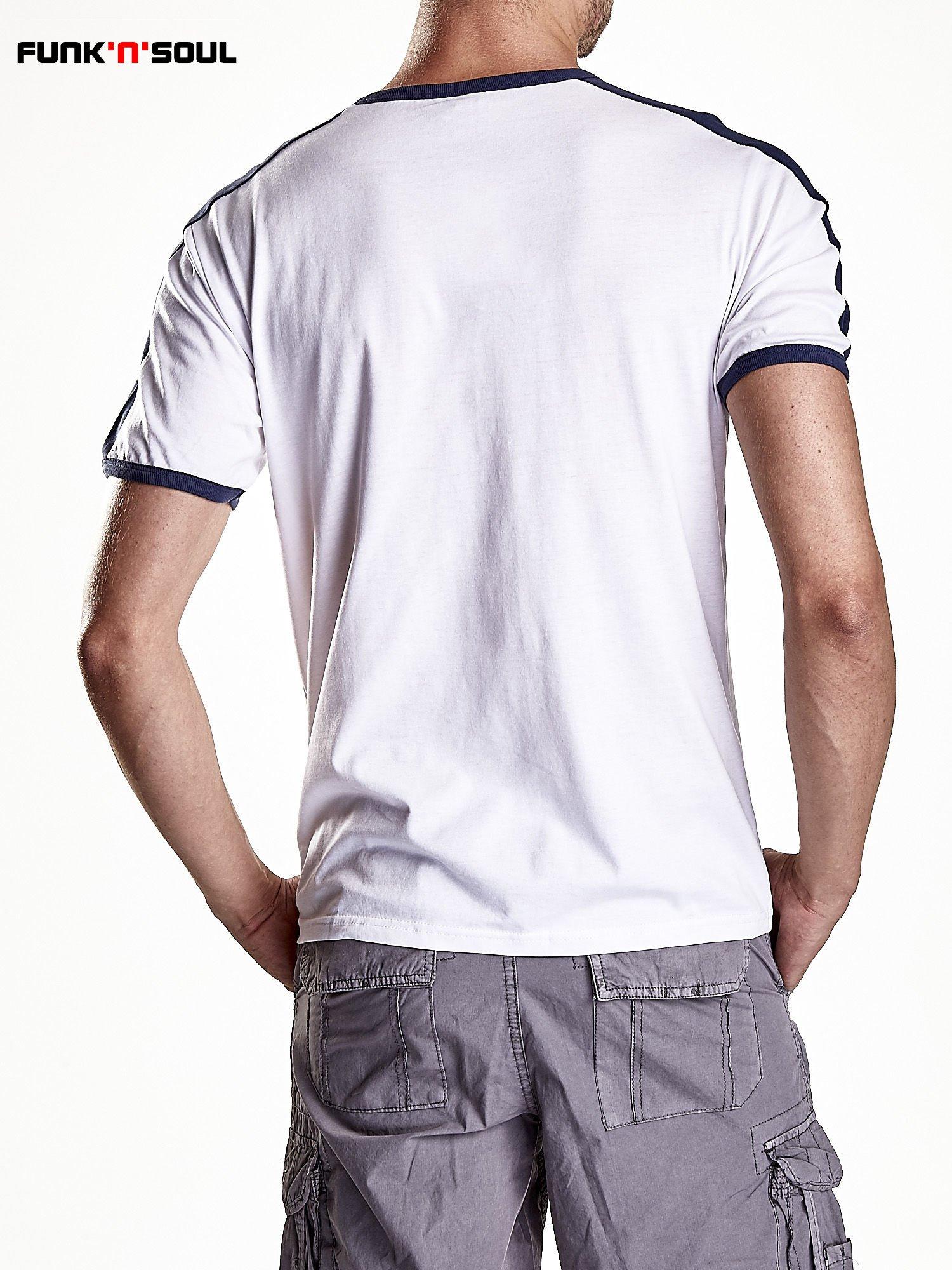 Biały t-shirt męski z napisem ENGLAND Funk n Soul                                  zdj.                                  2