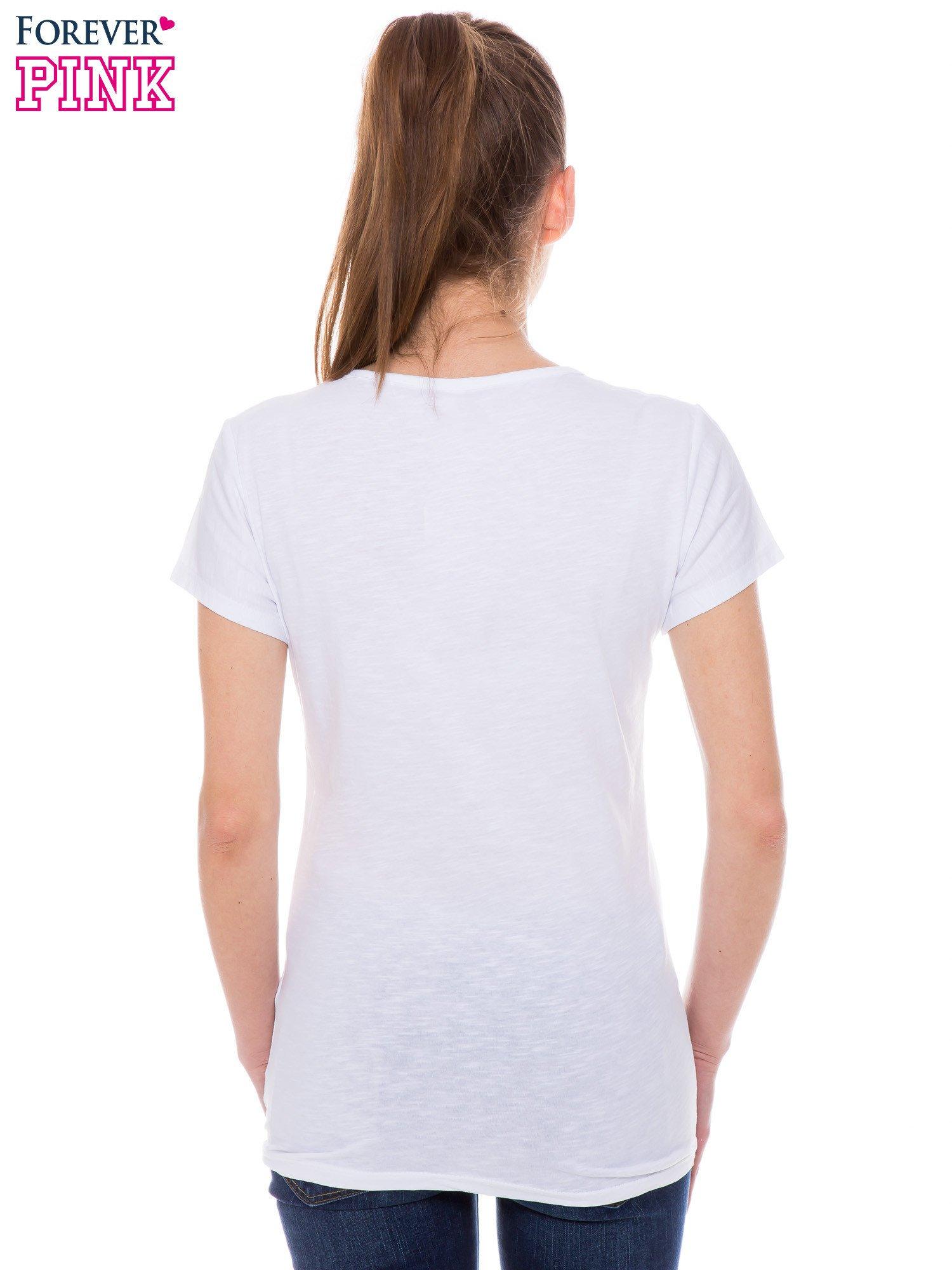 Biały t-shirt z nadrukiem ICE CREAM                                  zdj.                                  3