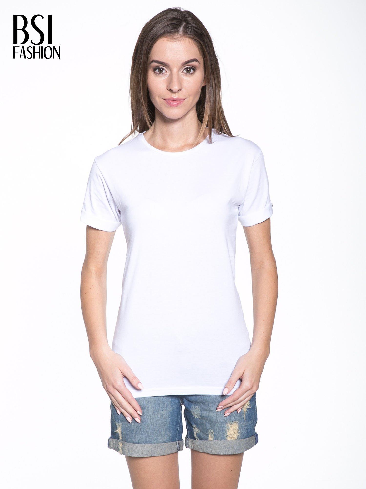 Biały t-shirt z nadrukiem numerycznym KAWAKUBO 42 z tyłu                                   zdj.                                  1